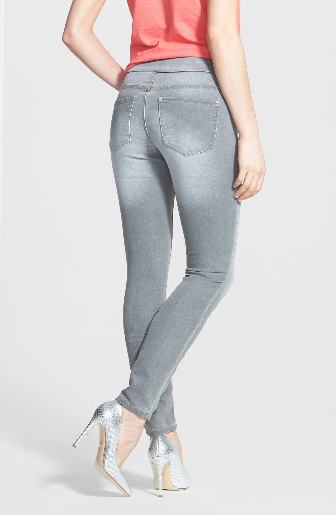Alternate Image 2  - Jag Jeans 'Nora' Pull-On Stretch Knit Skinny Jeans (Antique Tint)