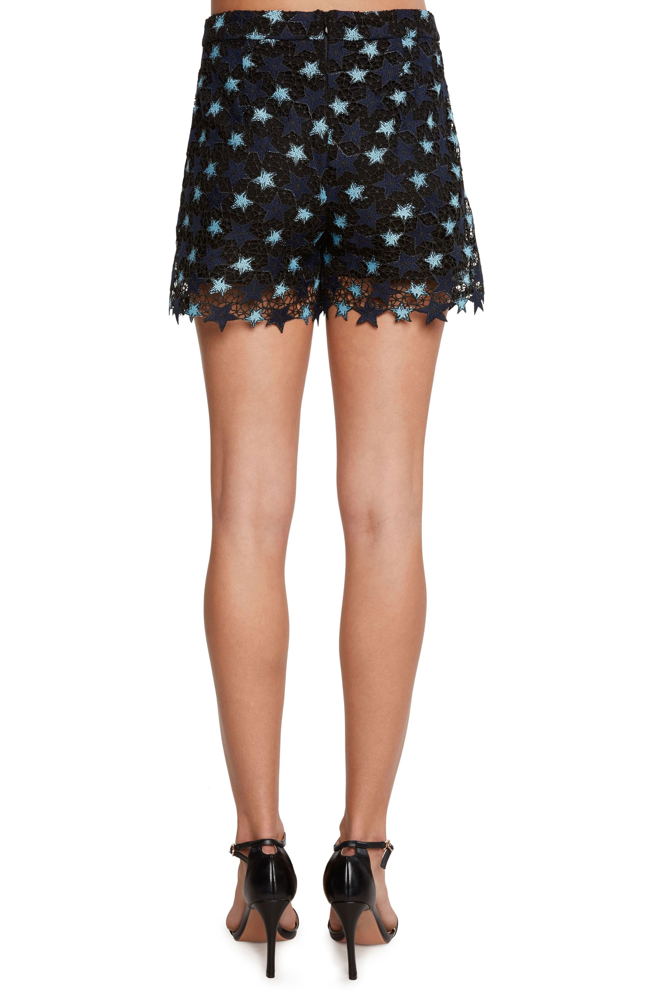 Star Lace Shorts,                             Alternate thumbnail 2, color,                             Navy