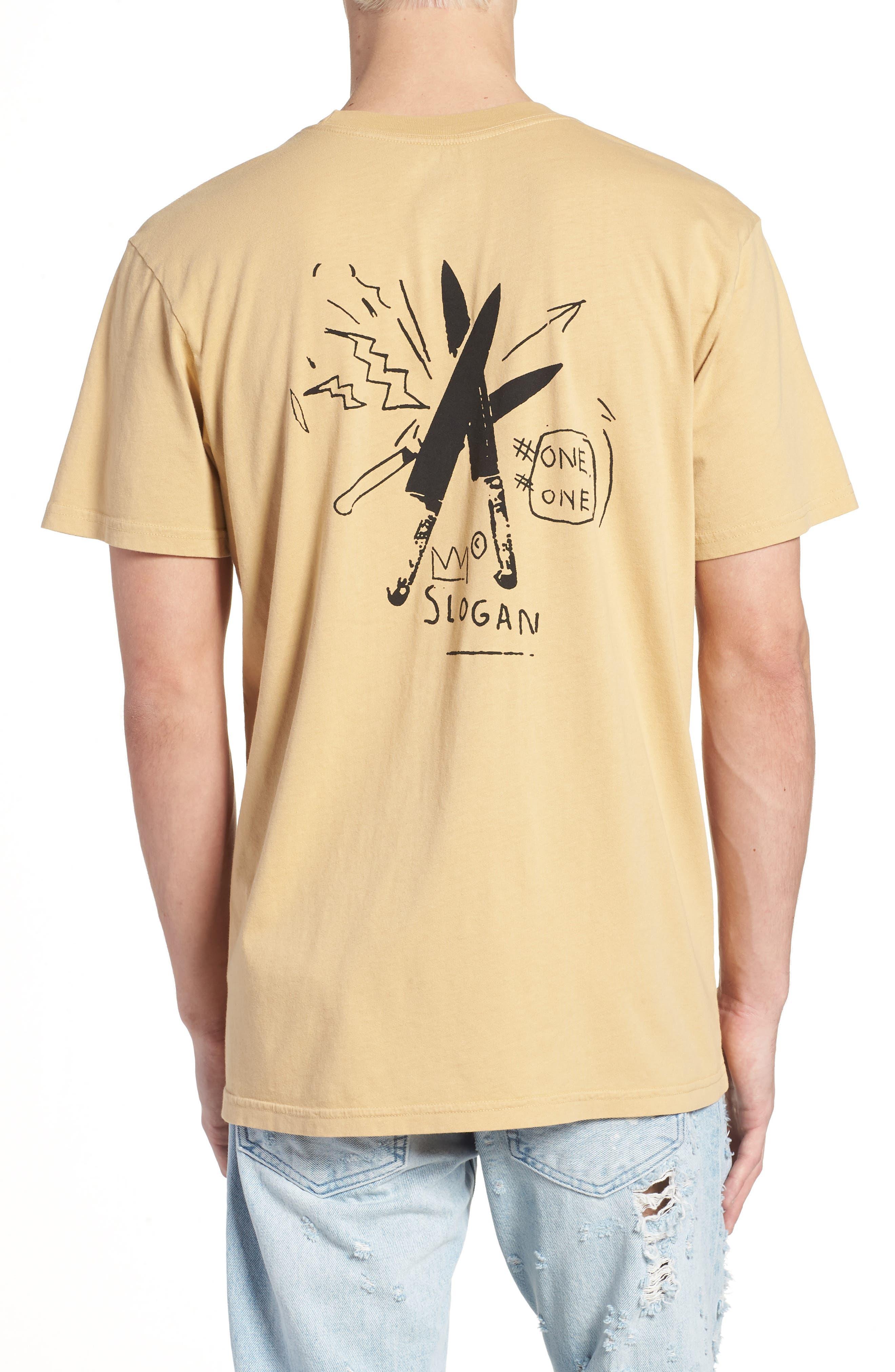 x Warhol Slogan T-Shirt,                             Alternate thumbnail 2, color,                             Straw