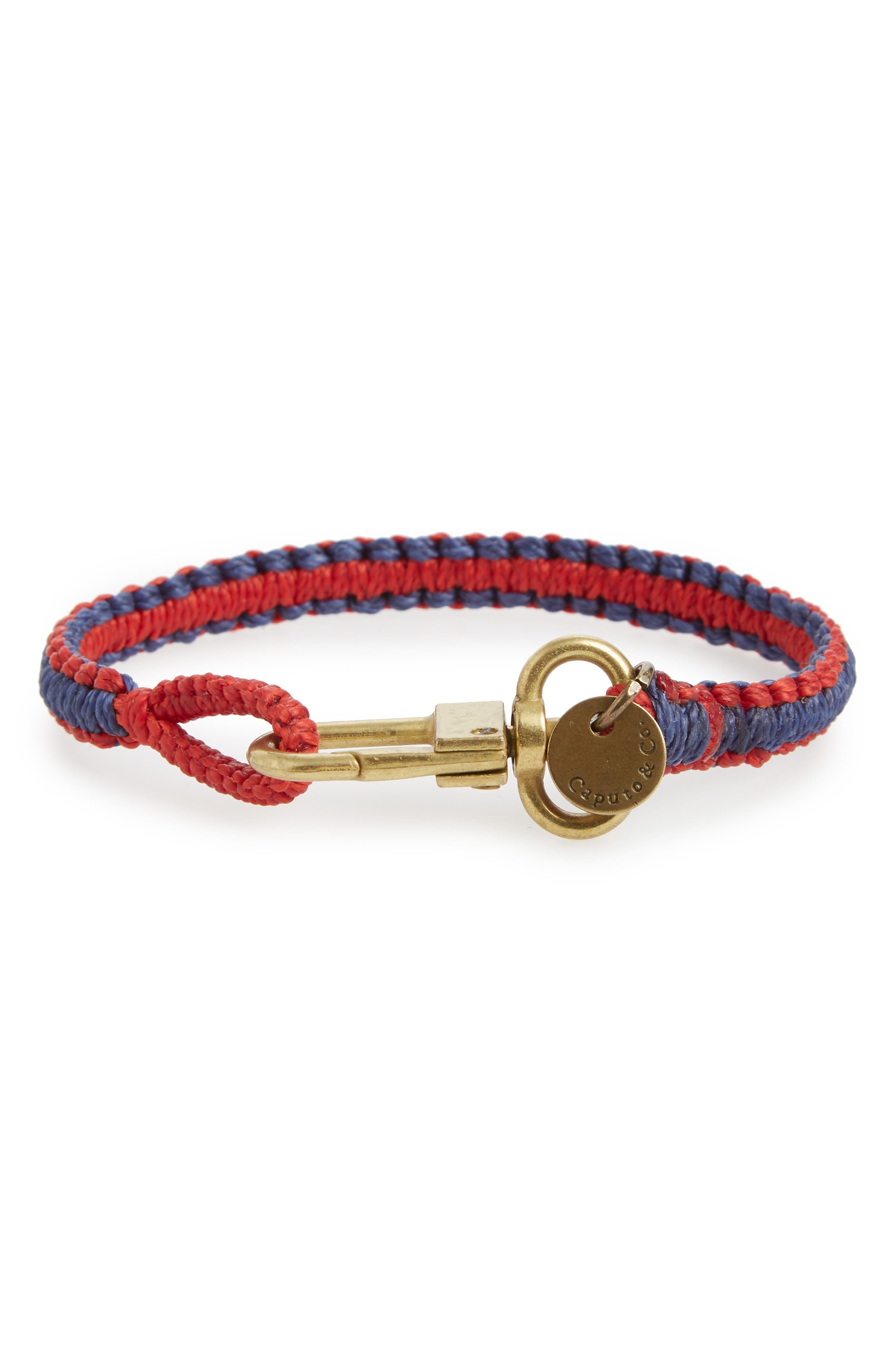 Reversible Bracelet,                             Alternate thumbnail 2, color,                             Red/ Navy