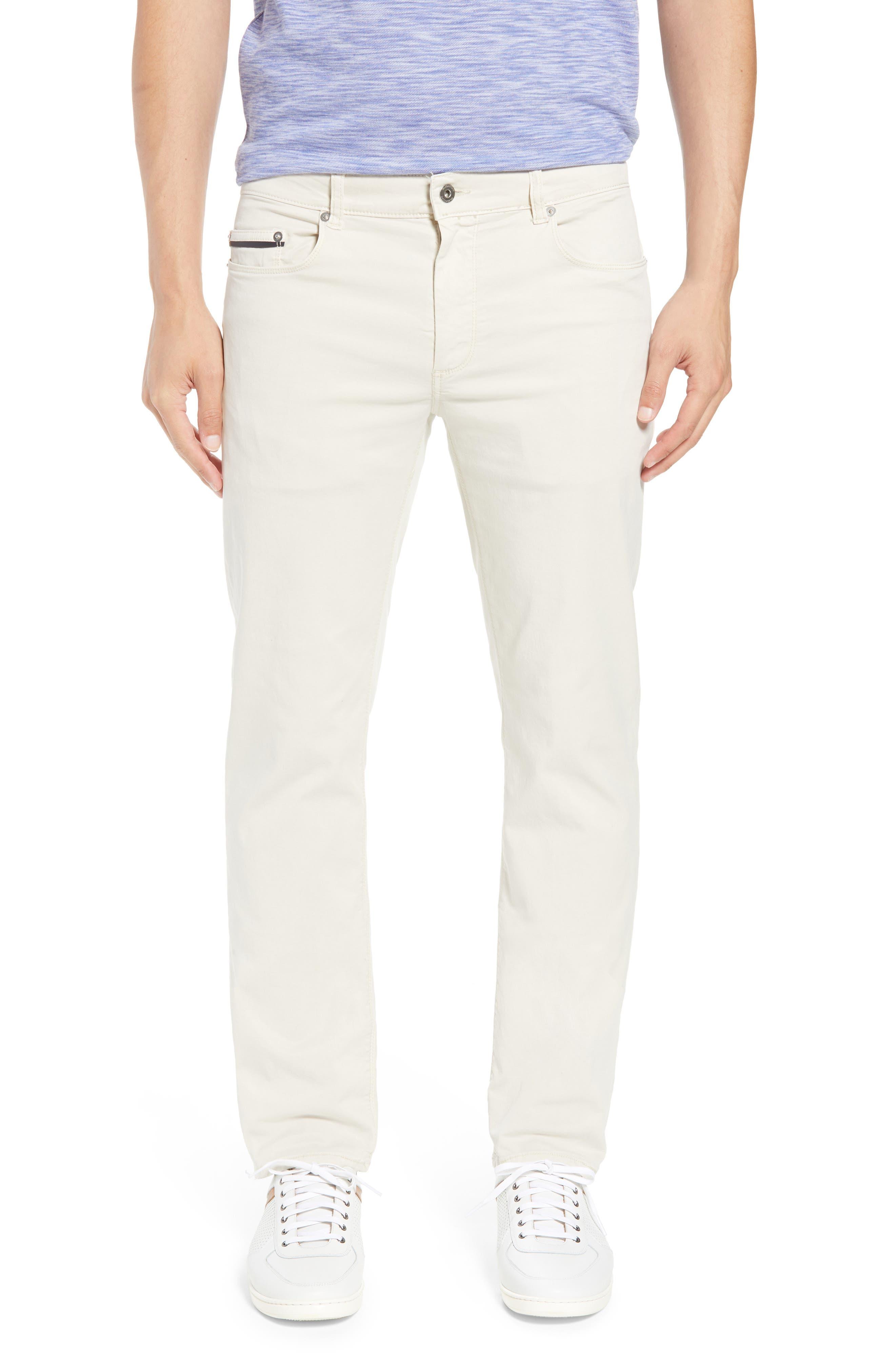 Bugatchi Slim Fit Washed Five-Pocket Pants