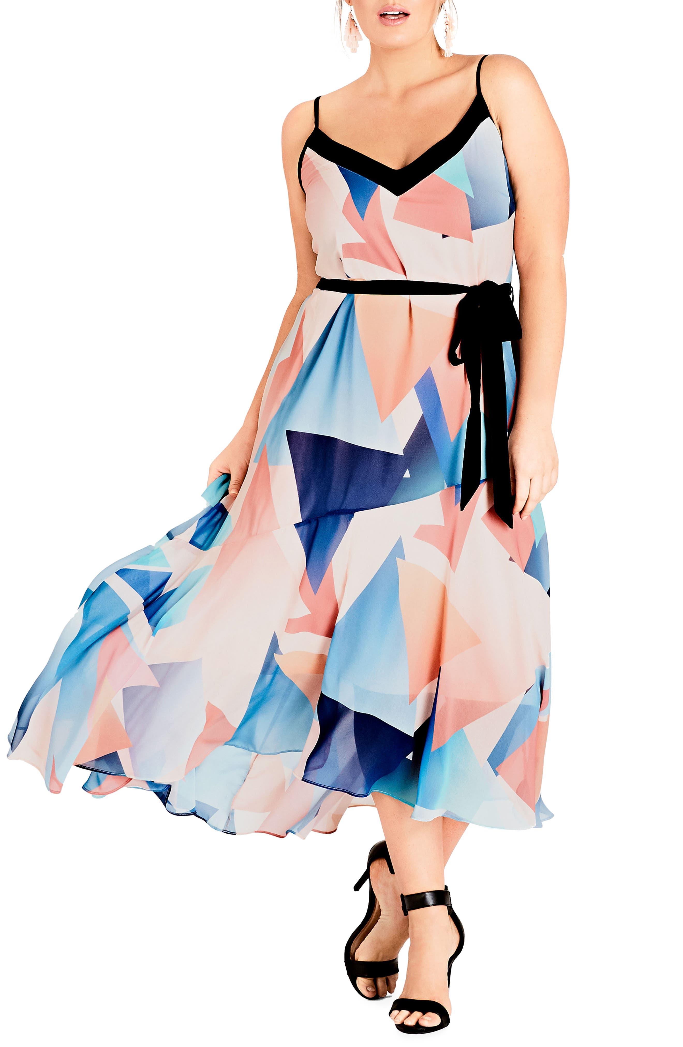 Angles Maxi Dress,                         Main,                         color, Soft Angles