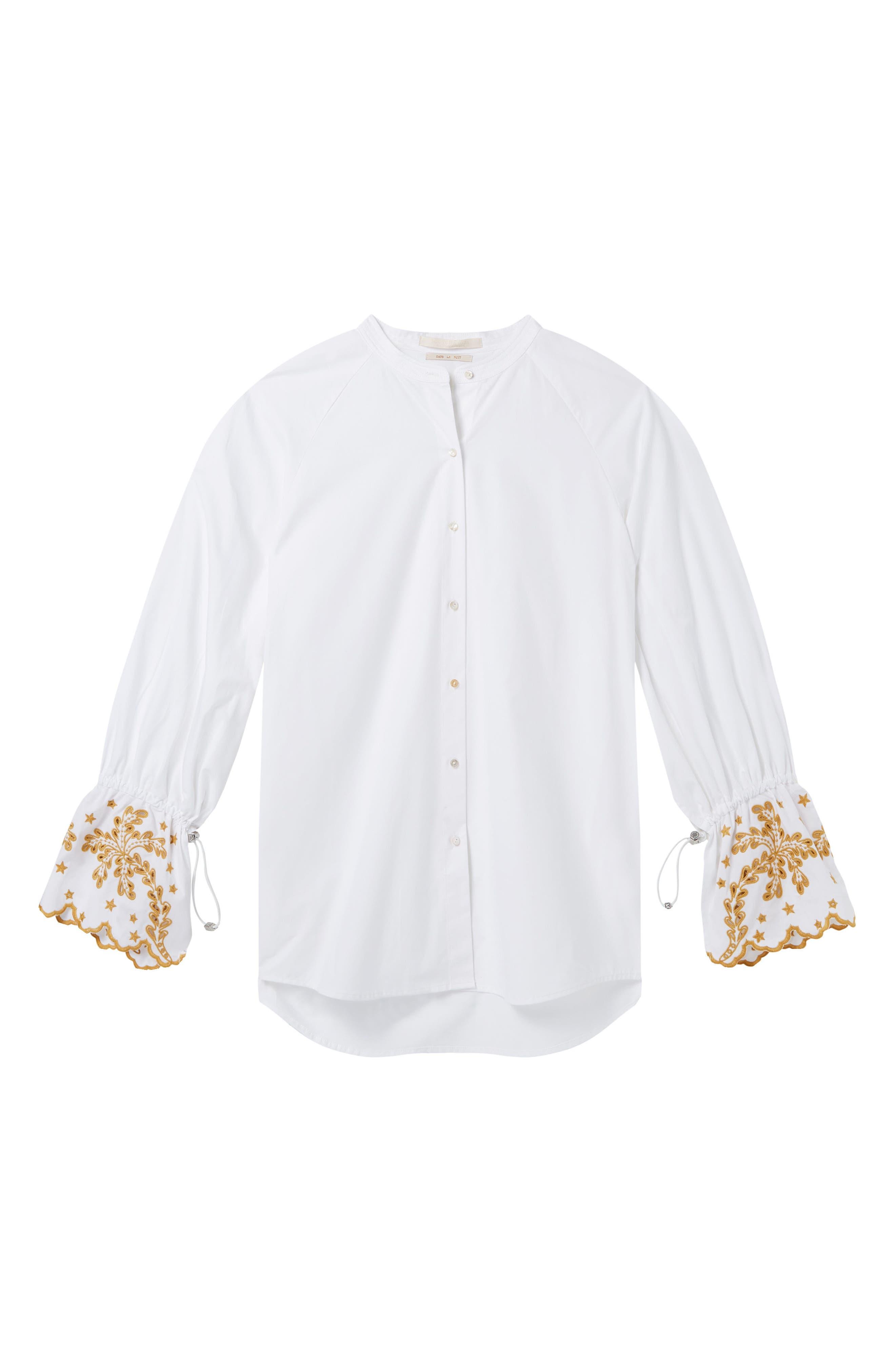 Oversize Button Front Shirt,                             Alternate thumbnail 8, color,                             Color 06 White