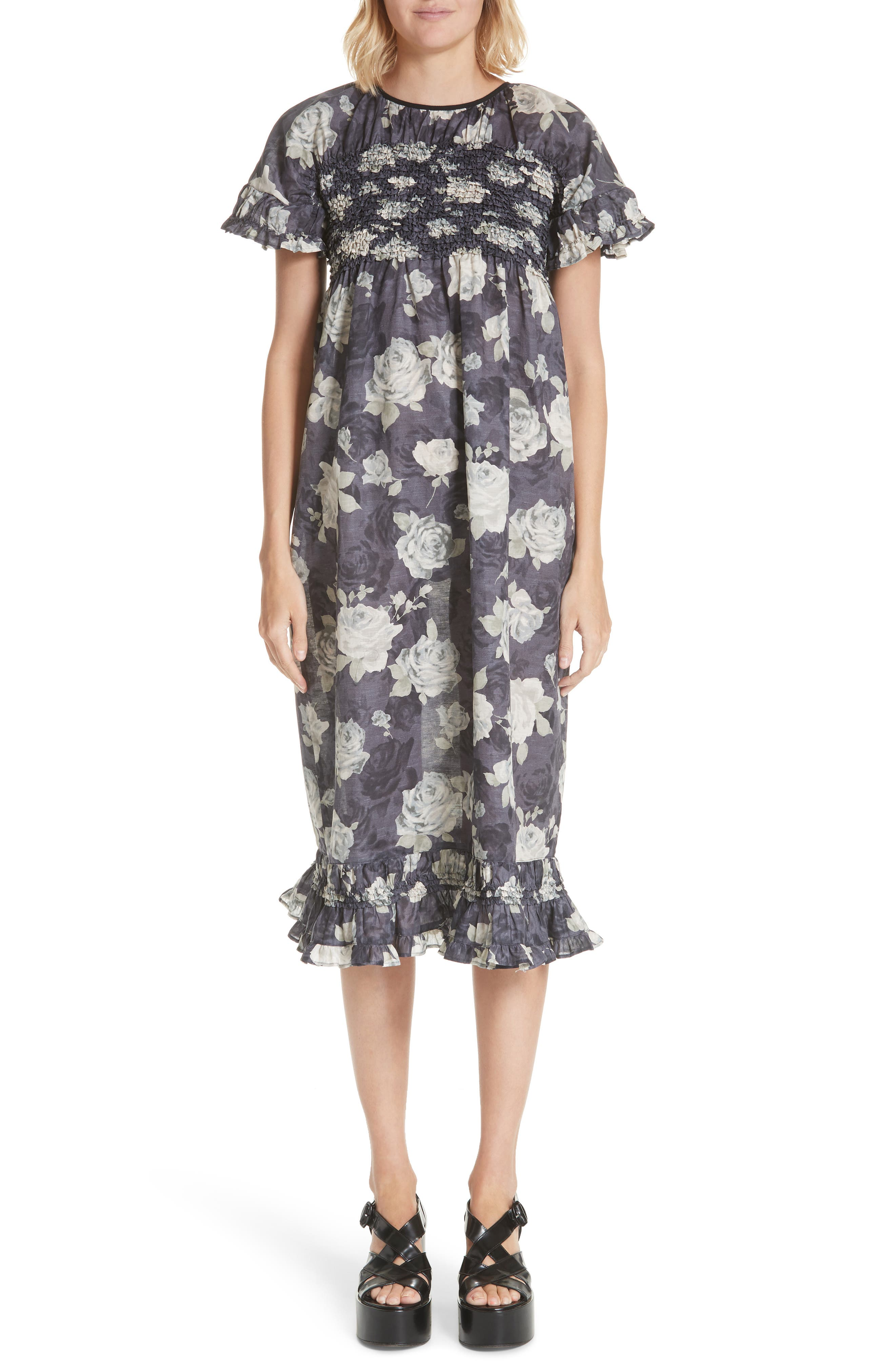 Alternate Image 1 Selected - Tricot Comme des Garçons Rose Print Dress