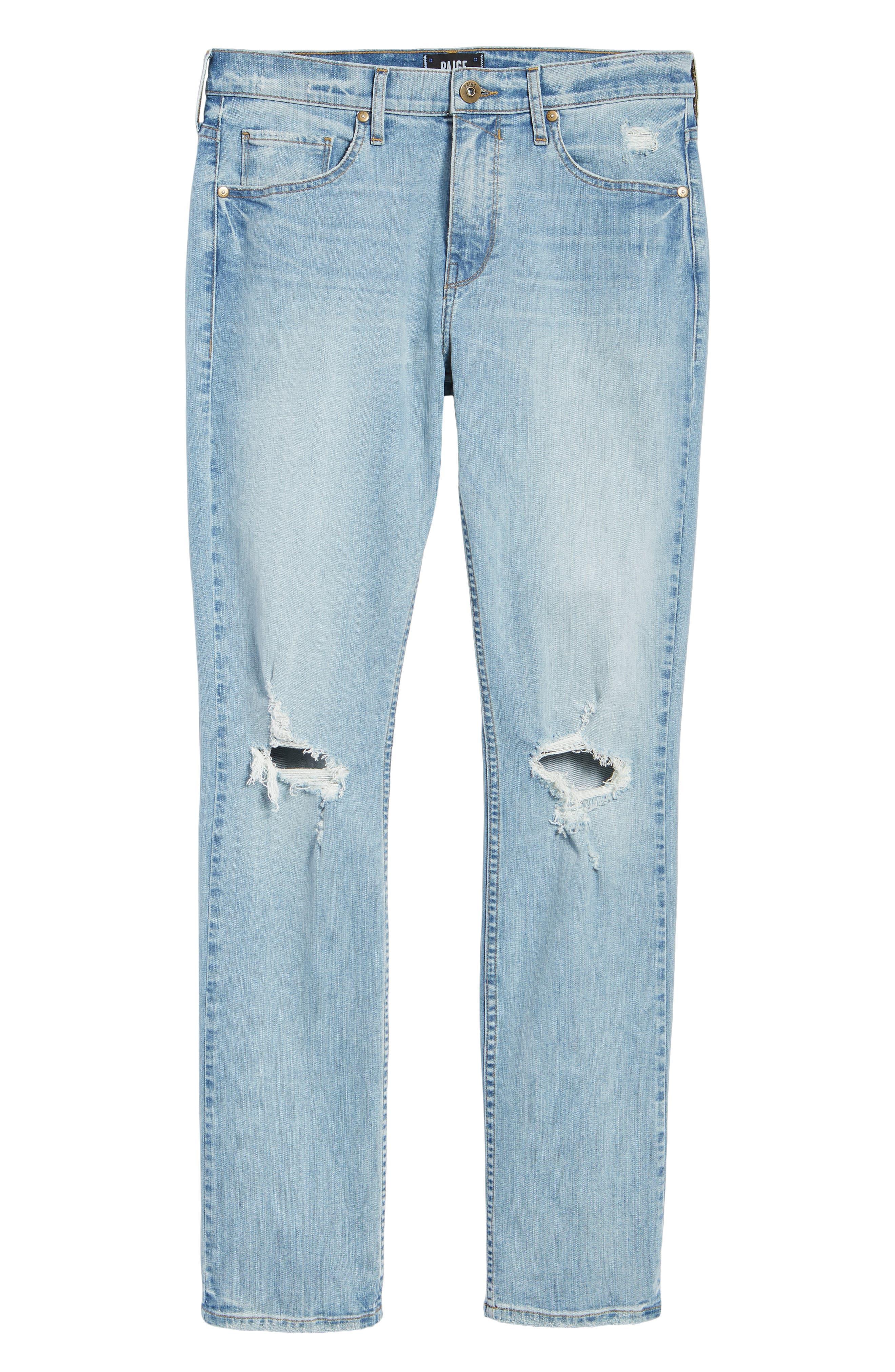 Lennox Slim Fit Jeans,                             Alternate thumbnail 6, color,                             County Destructed