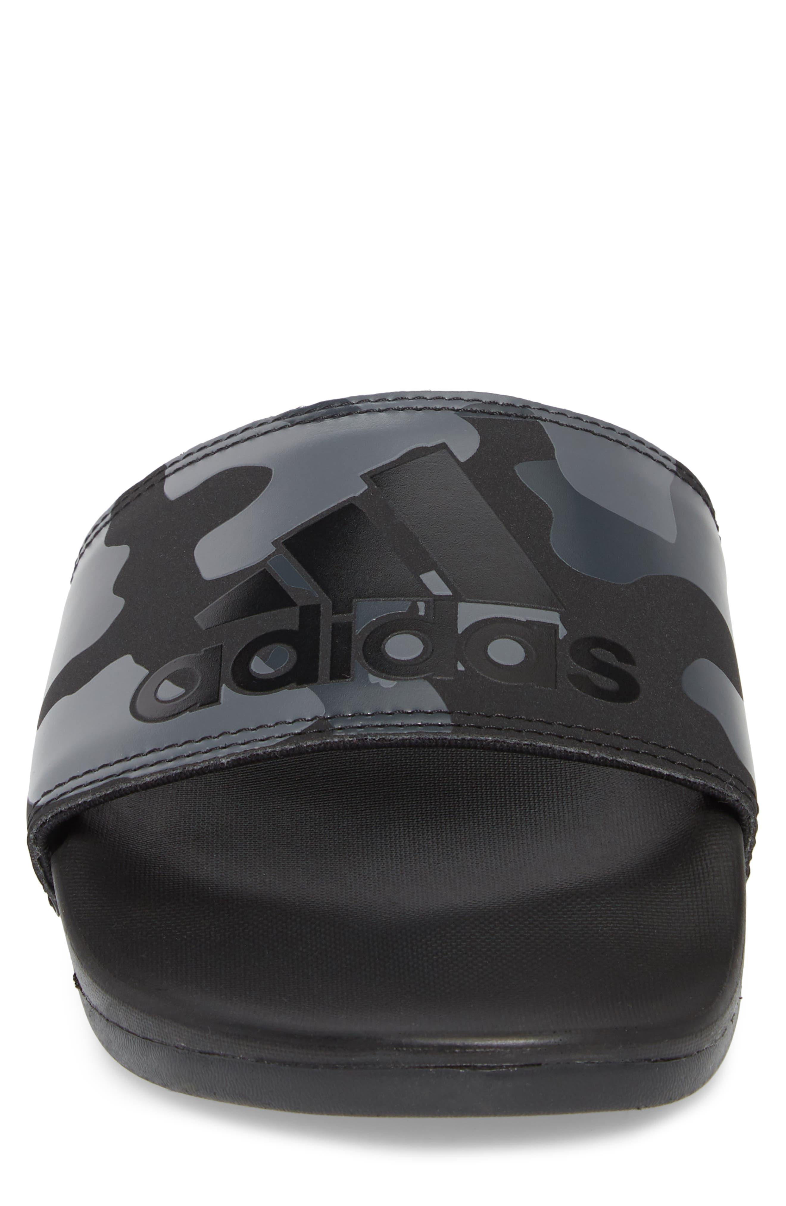 Cloudfoam Plus Slide Sandal,                             Alternate thumbnail 4, color,                             Core Black/ White/ Carbon