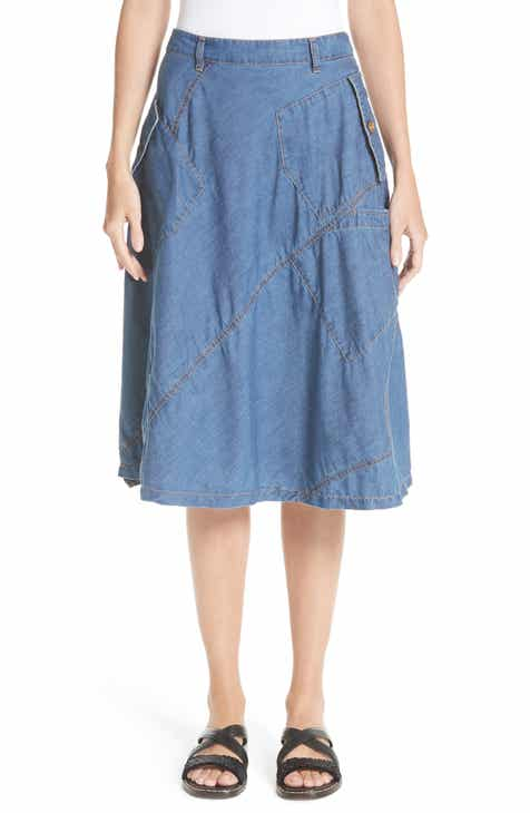 Tricot Comme des Gar?ons Chambray & Eyelet Skirt