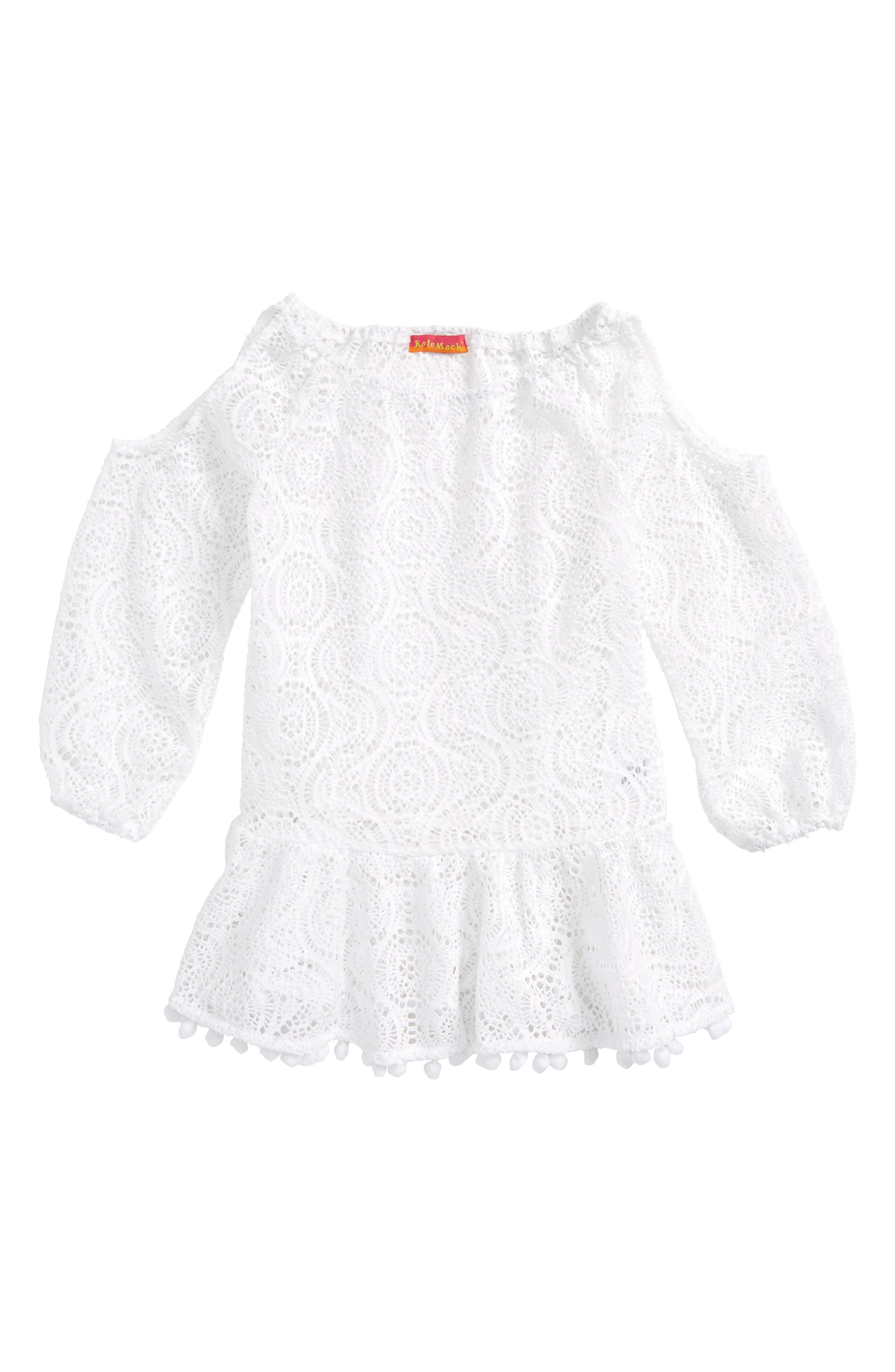 Main Image - Kate Mack Crochet Cover-Up Tunic (Little Girls)