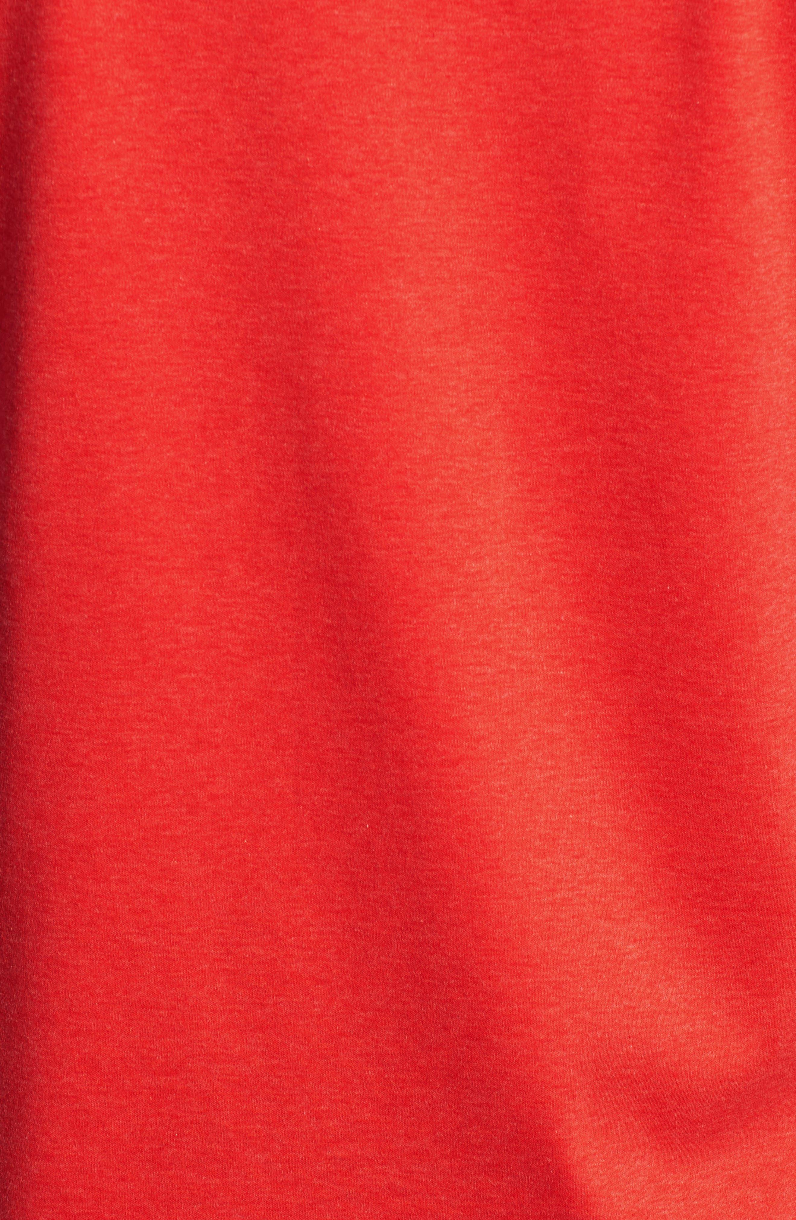 Trim Fit Heather Knit Sport Shirt,                             Alternate thumbnail 5, color,                             Cherry
