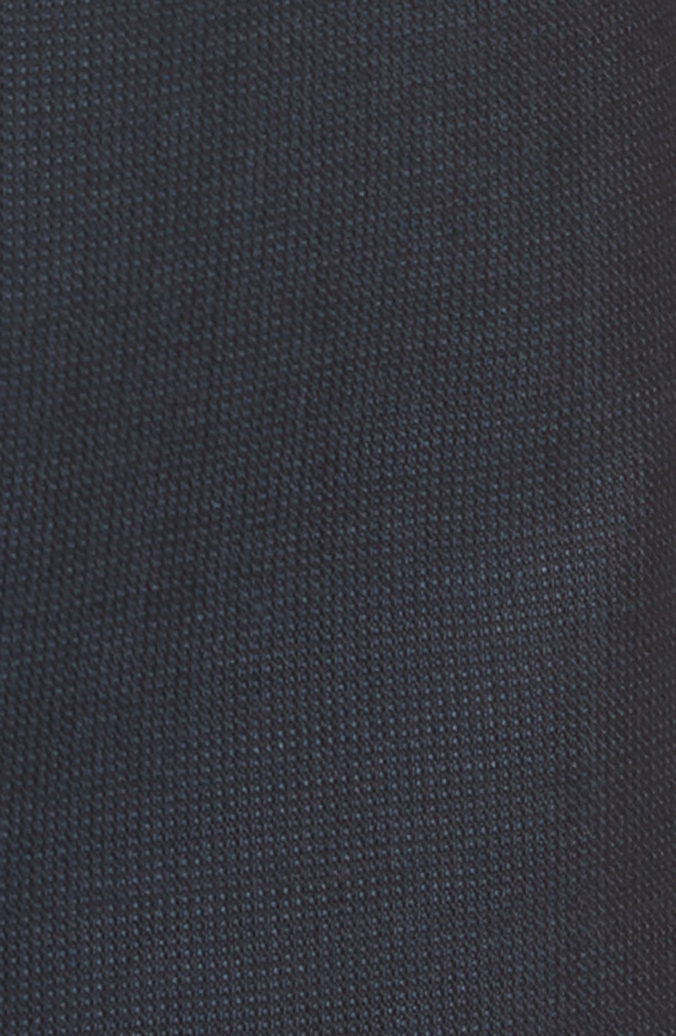 Barnes Flat Front Solid Wool Trousers,                             Alternate thumbnail 5, color,                             Navy