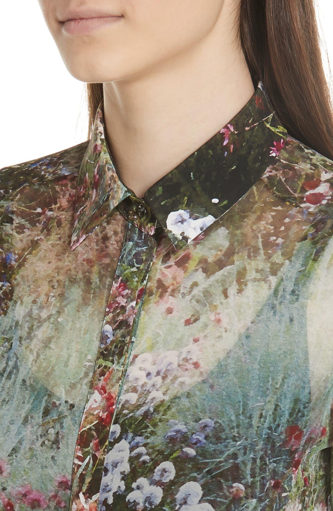 Alternate Image 5  - Max Mara Selim Print Silk Blouse