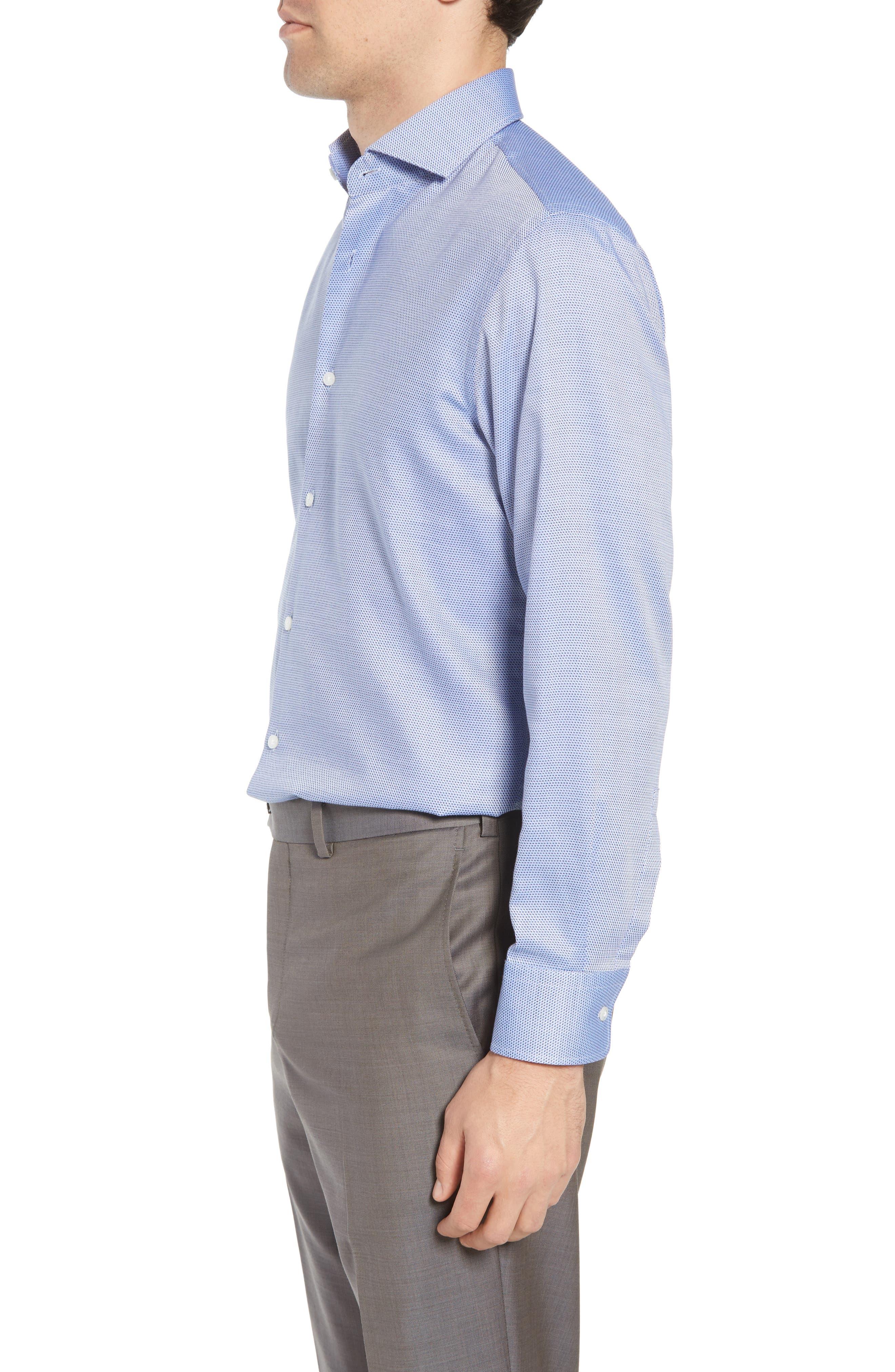 Sharp Fit Dress Shirt,                             Alternate thumbnail 4, color,                             Blue