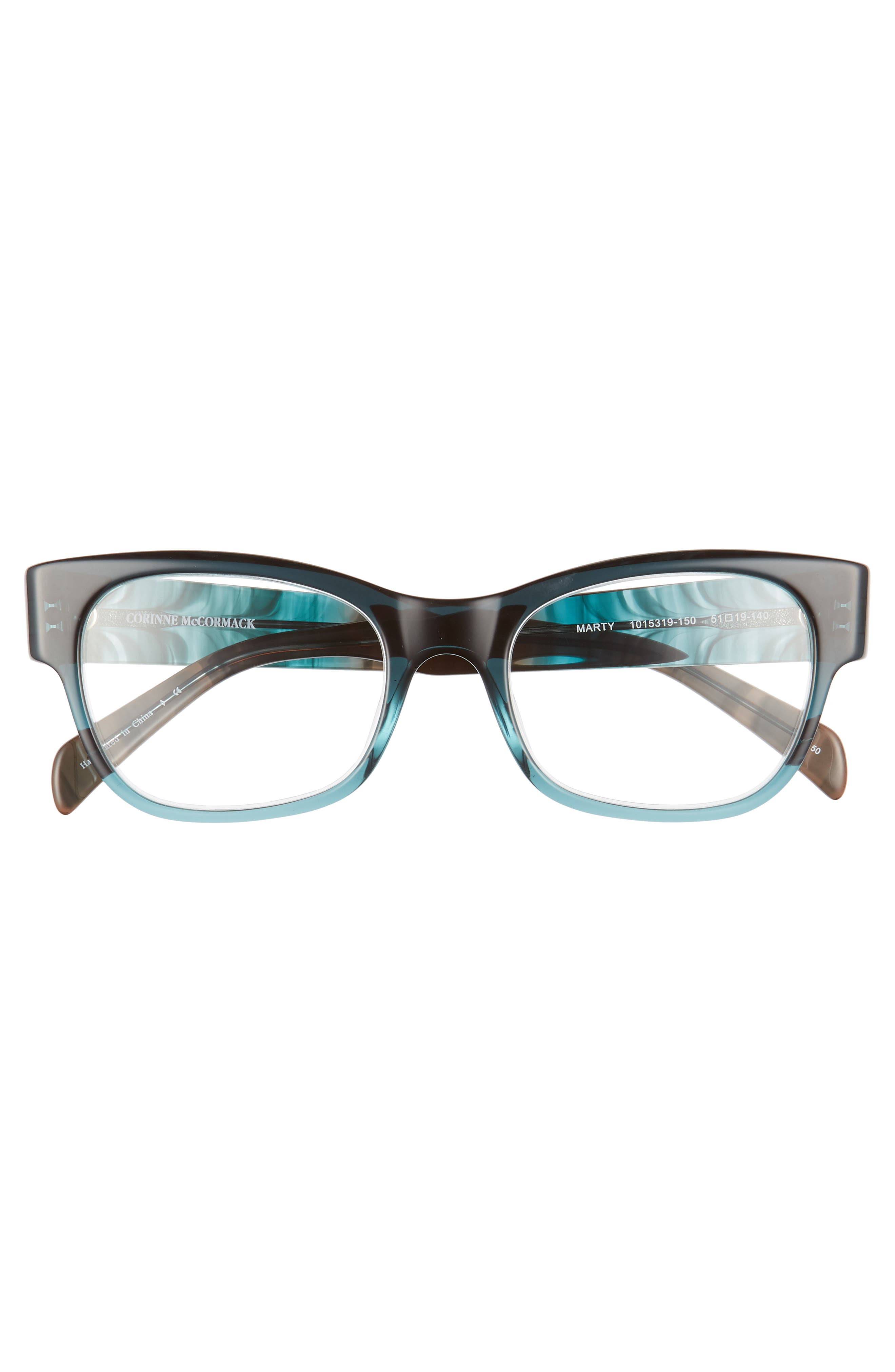 Marty 51mm Reading Glasses,                             Alternate thumbnail 3, color,                             Teal