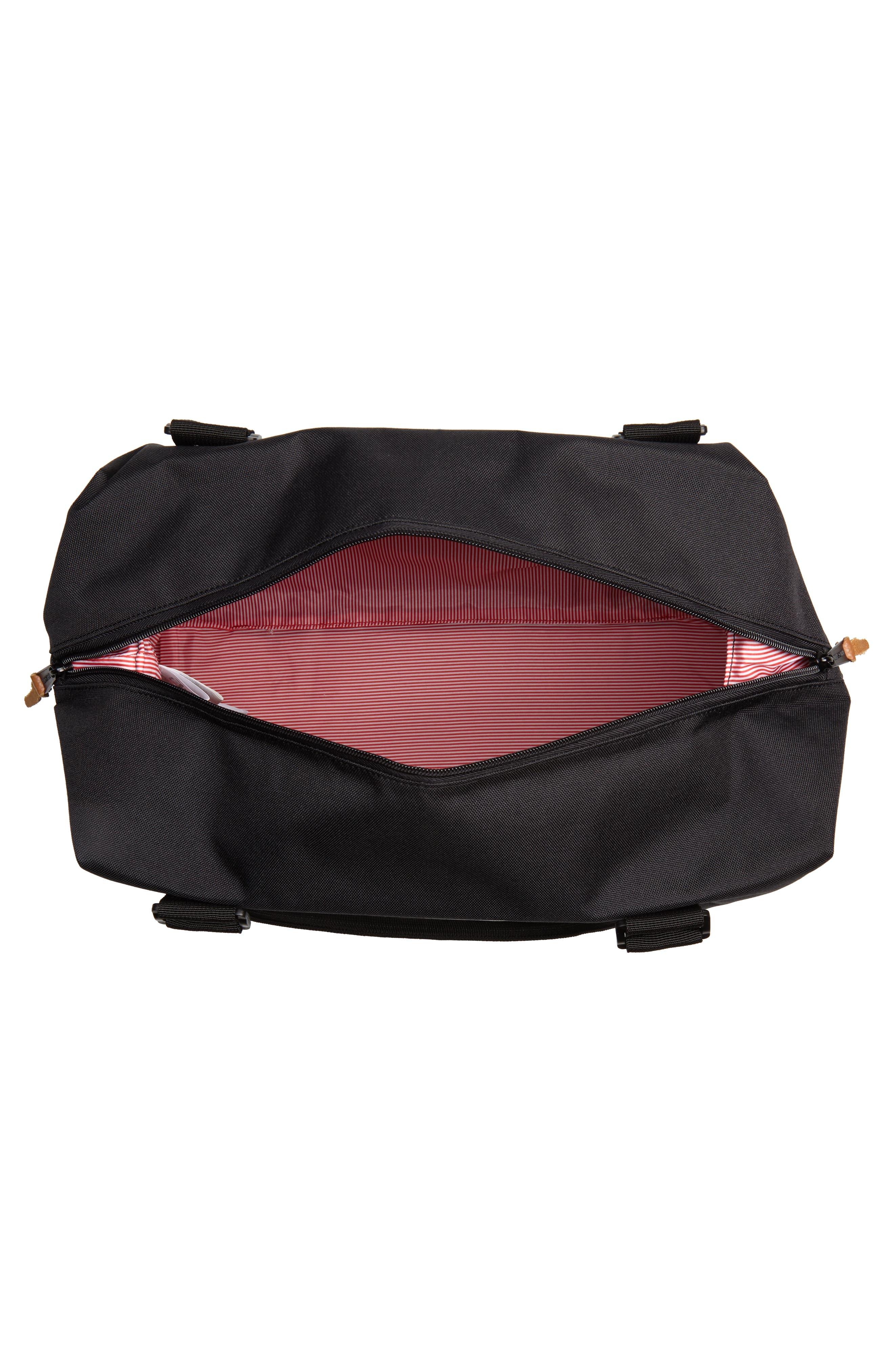 Strand Duffel Bag,                             Alternate thumbnail 4, color,                             Black