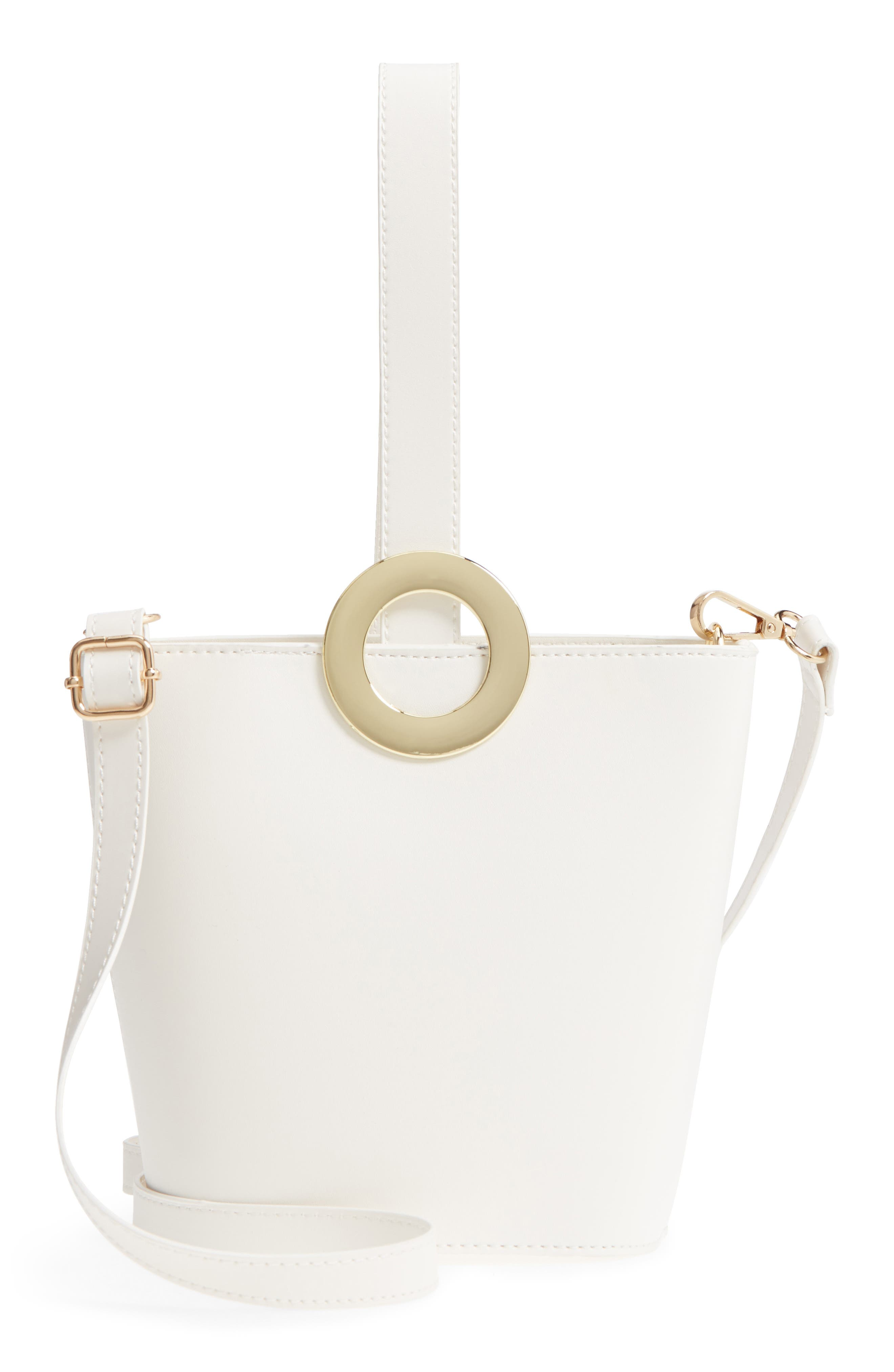 Alternate Image 1 Selected - Yoki Bags Structured Faux Leather Bucket Bag