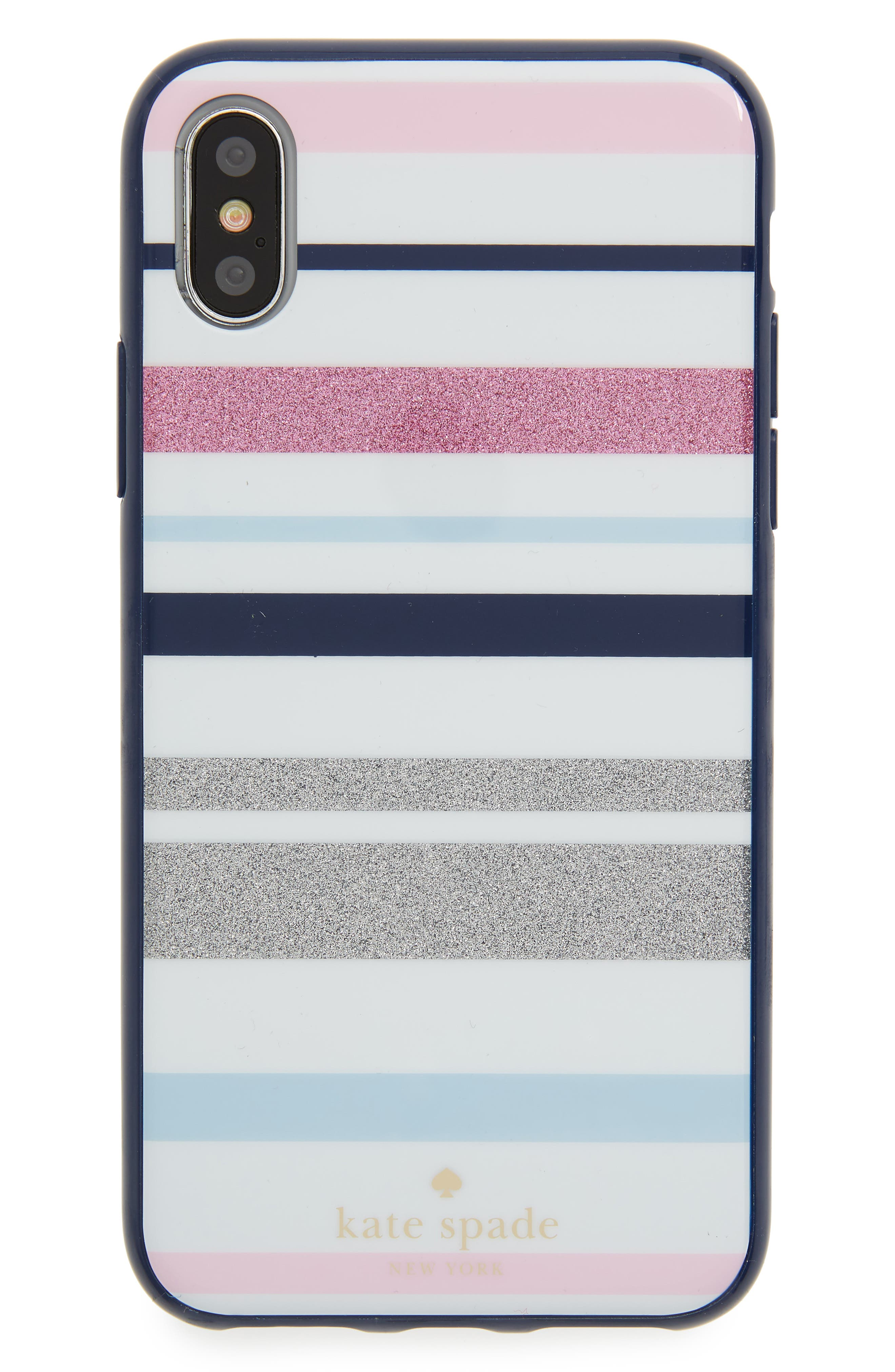 desert stripe iPhone X case,                             Main thumbnail 1, color,                             Blue Multi