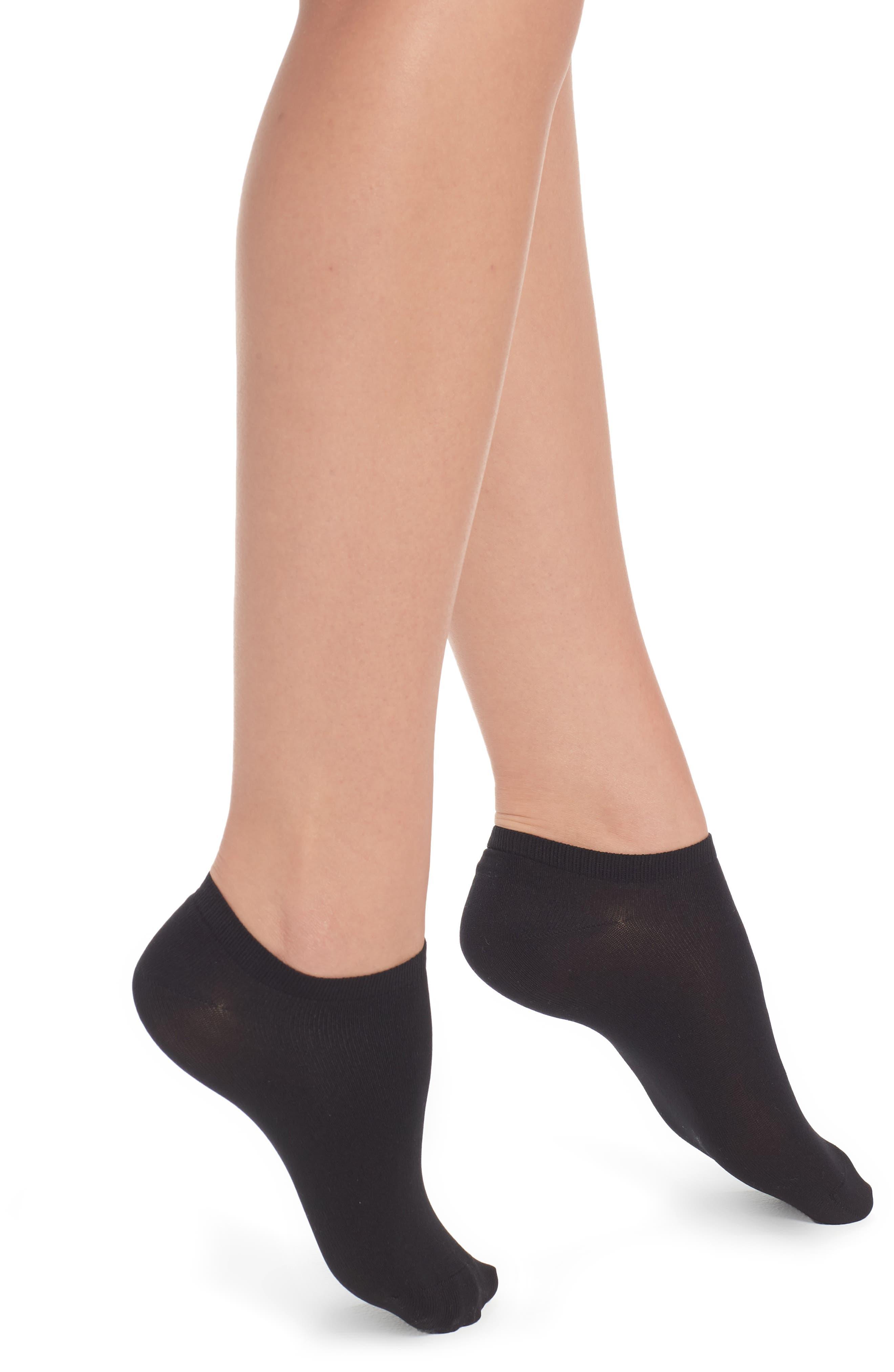 Sara Low-Cut Socks,                         Main,                         color, Black