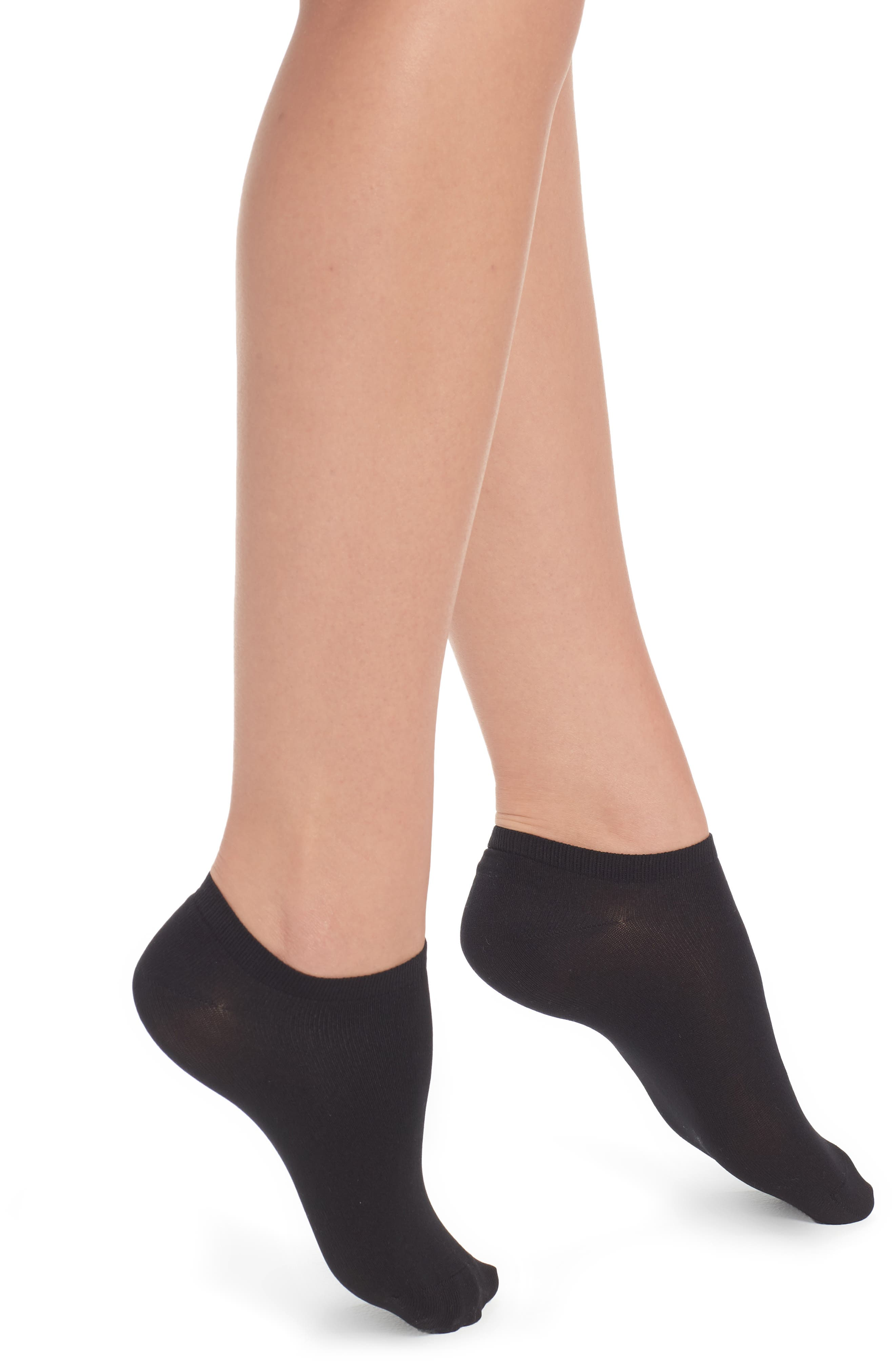 Sara Low-Cut Socks,                         Main,                         color, Black
