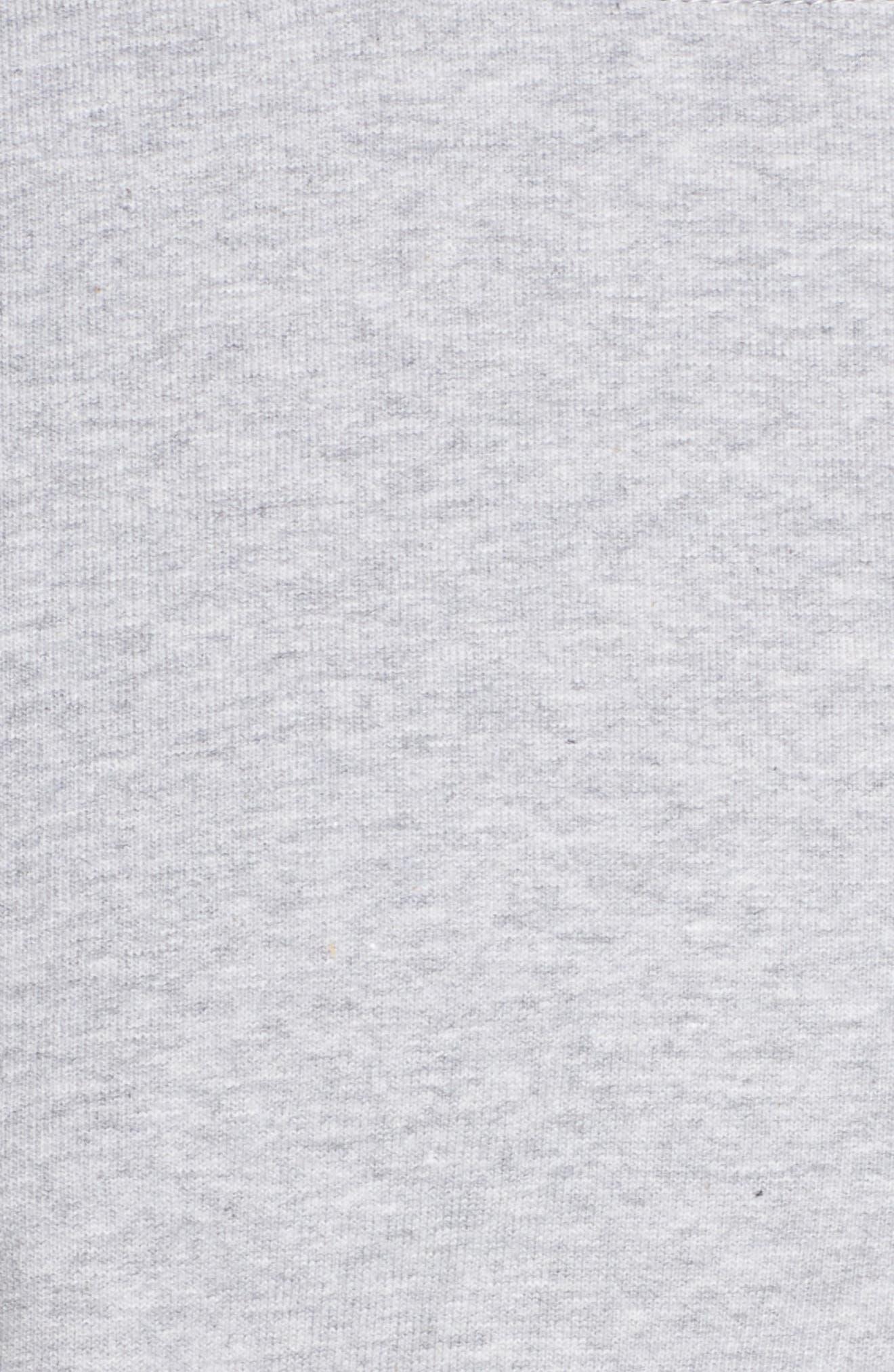 French Terry Crop Sweatshirt,                             Alternate thumbnail 7, color,                             Light Grey Marl