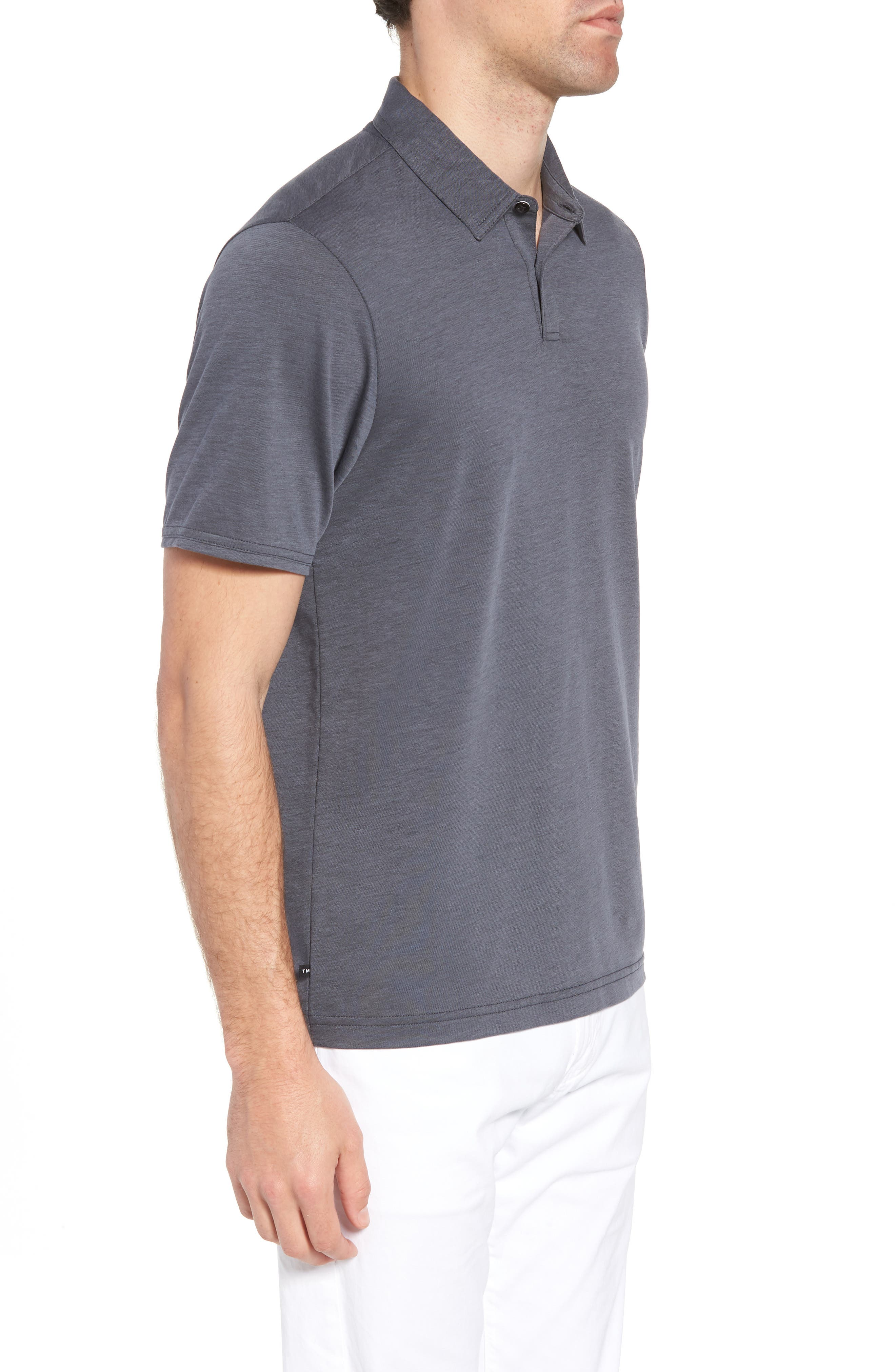 Shalene Regular Fit Polo,                             Alternate thumbnail 3, color,                             Grisaille/ Black