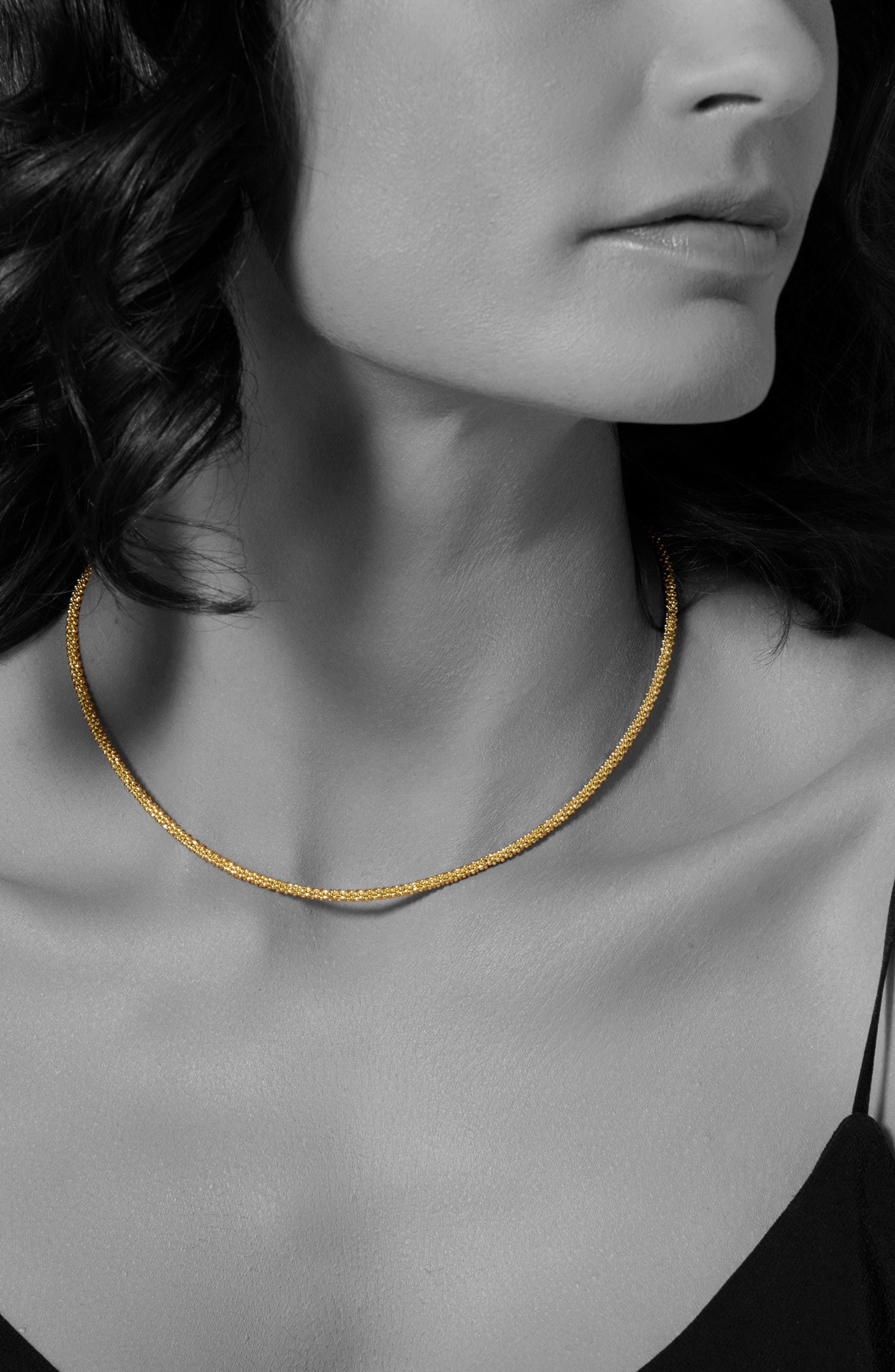 Caviar Gold Rope Necklace,                             Alternate thumbnail 2, color,                             Gold