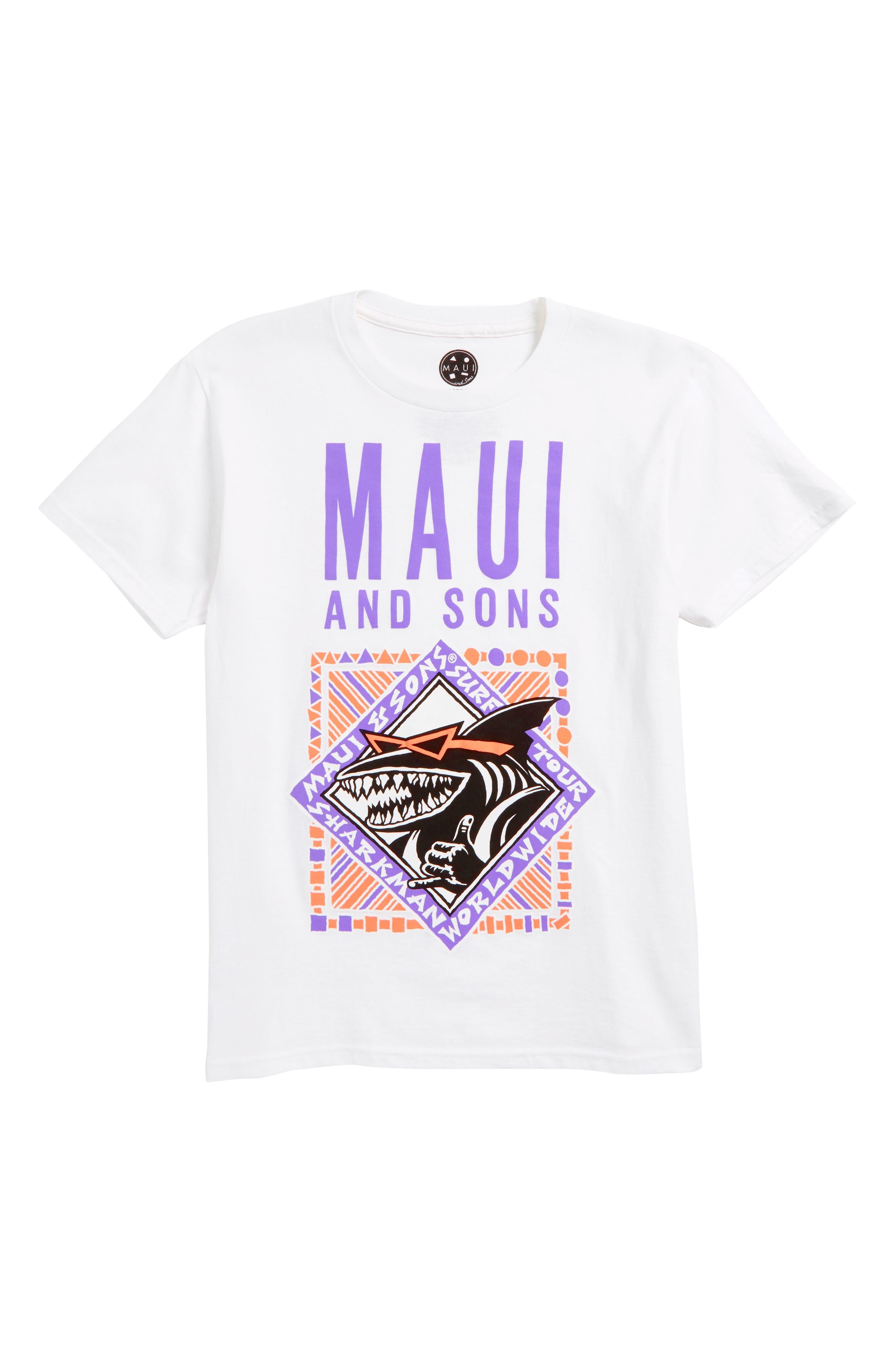 Maui & Sons Retro Shaka Graphic T-Shirt (Big Boys)