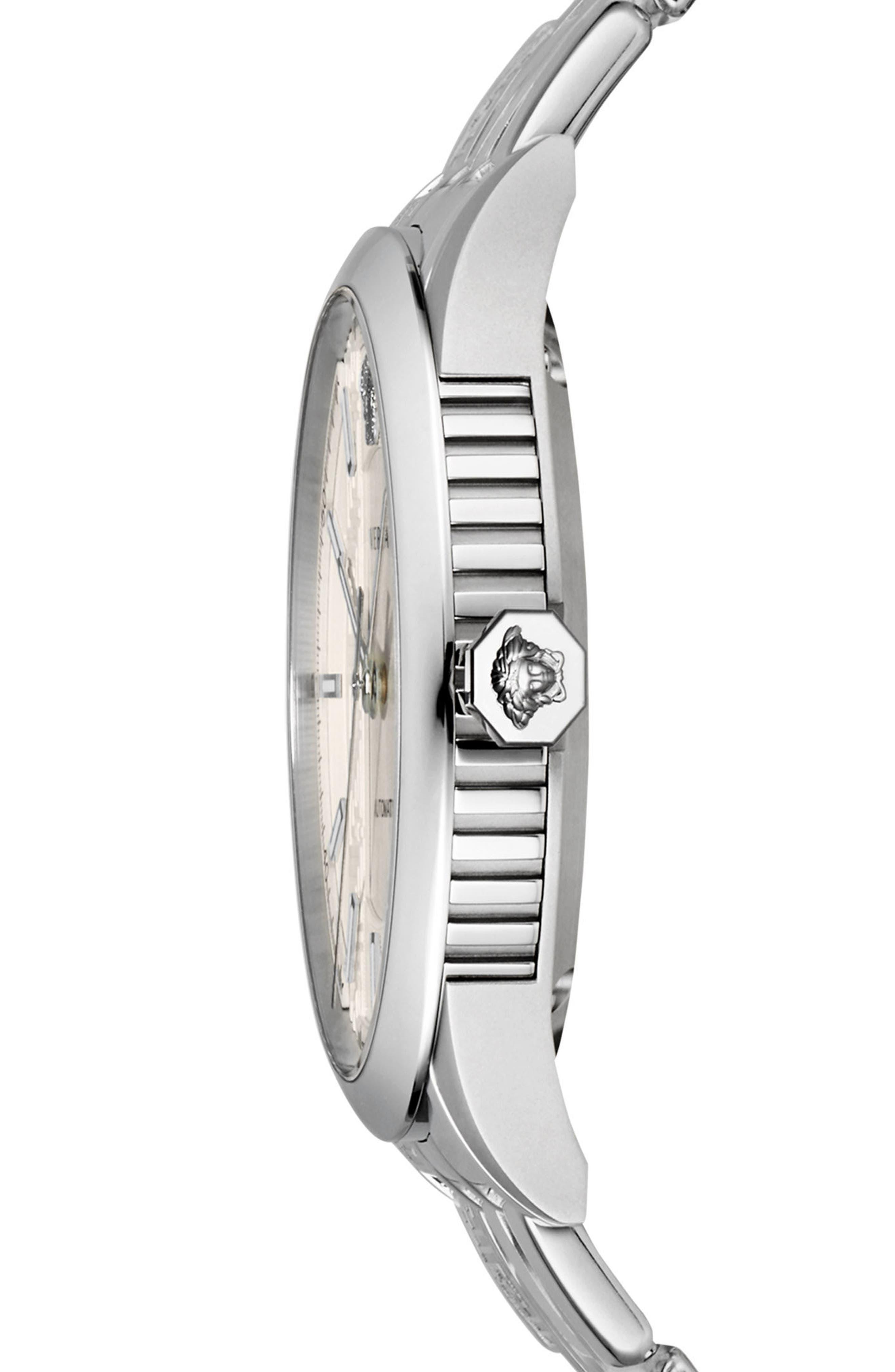 Aiakos Automatic Bracelet Watch, 44mm,                             Alternate thumbnail 2, color,                             Silver
