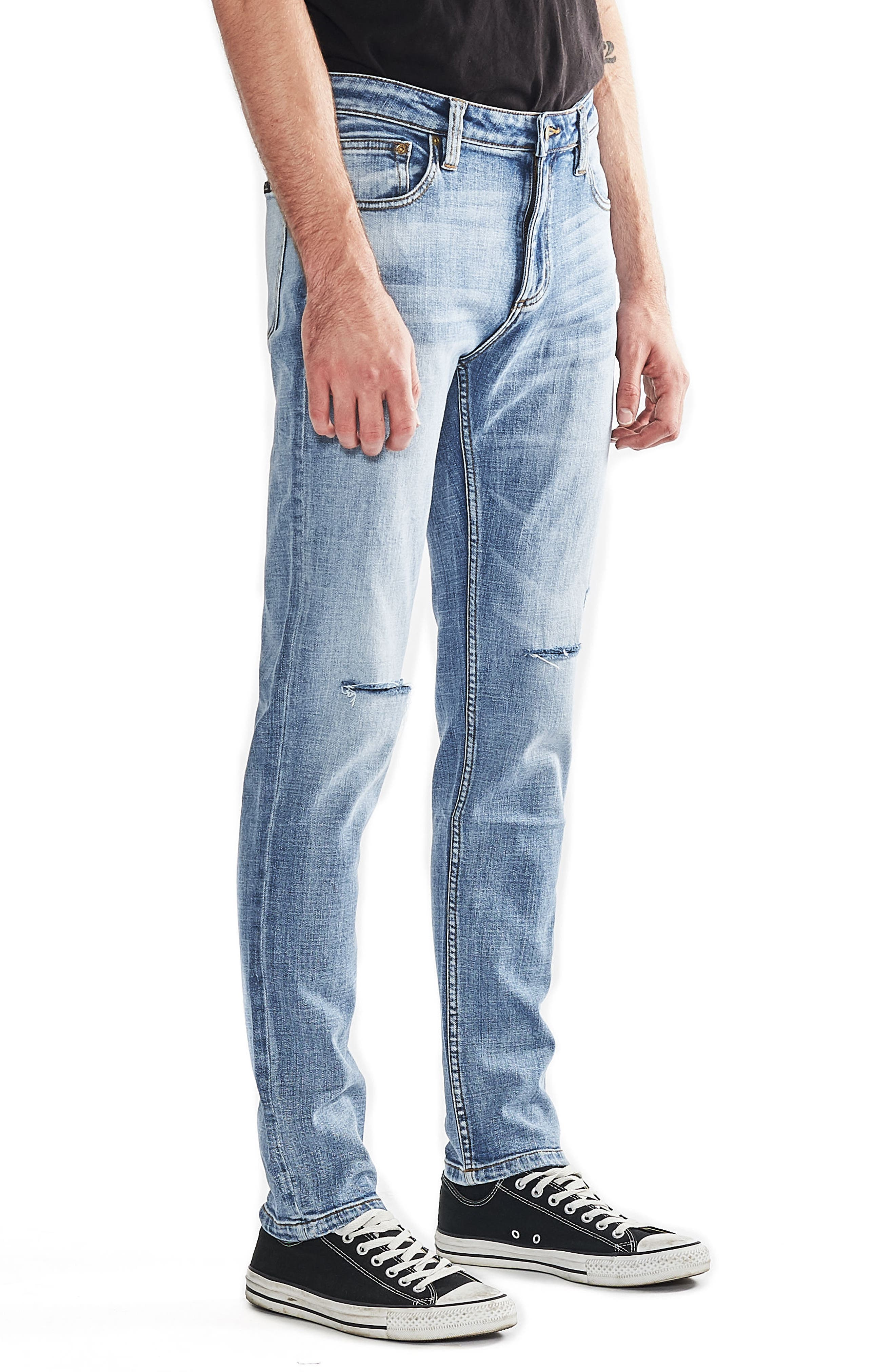 Tim Slims Slim Fit Jeans,                             Alternate thumbnail 3, color,                             Trash Bag Authentic