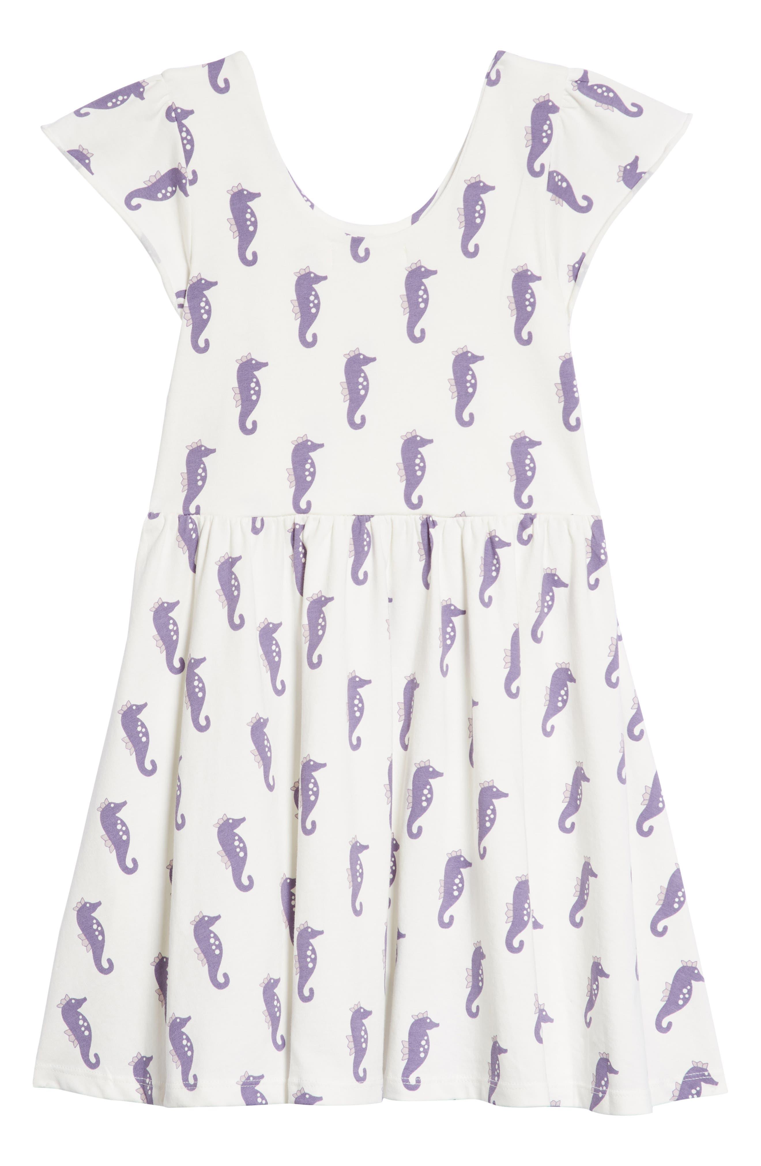 Let's Dance Seashore Print Dress,                             Alternate thumbnail 2, color,                             Seahorse