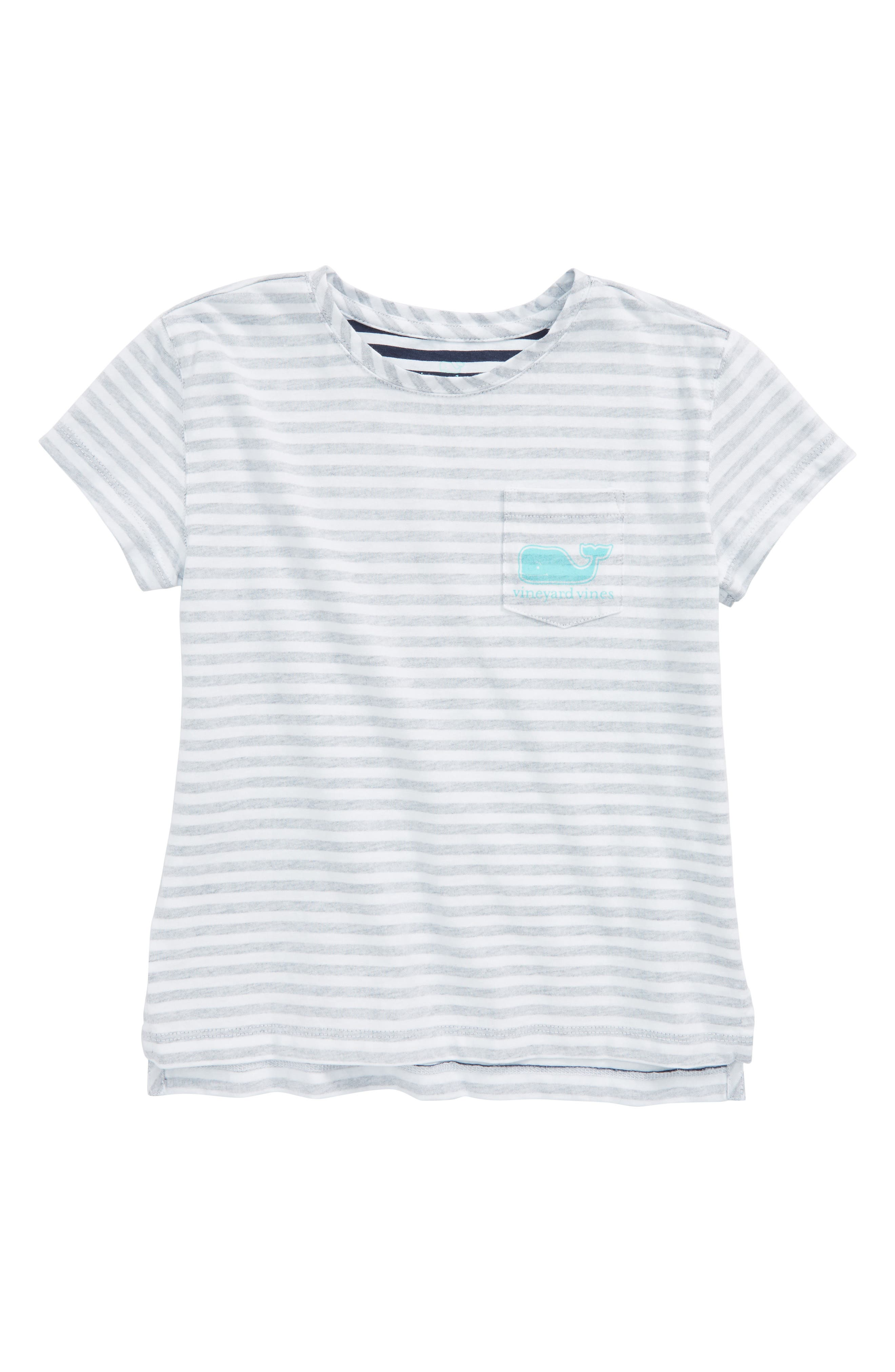 Stripe Whale Pocket Tee,                             Main thumbnail 1, color,                             Deep Bay