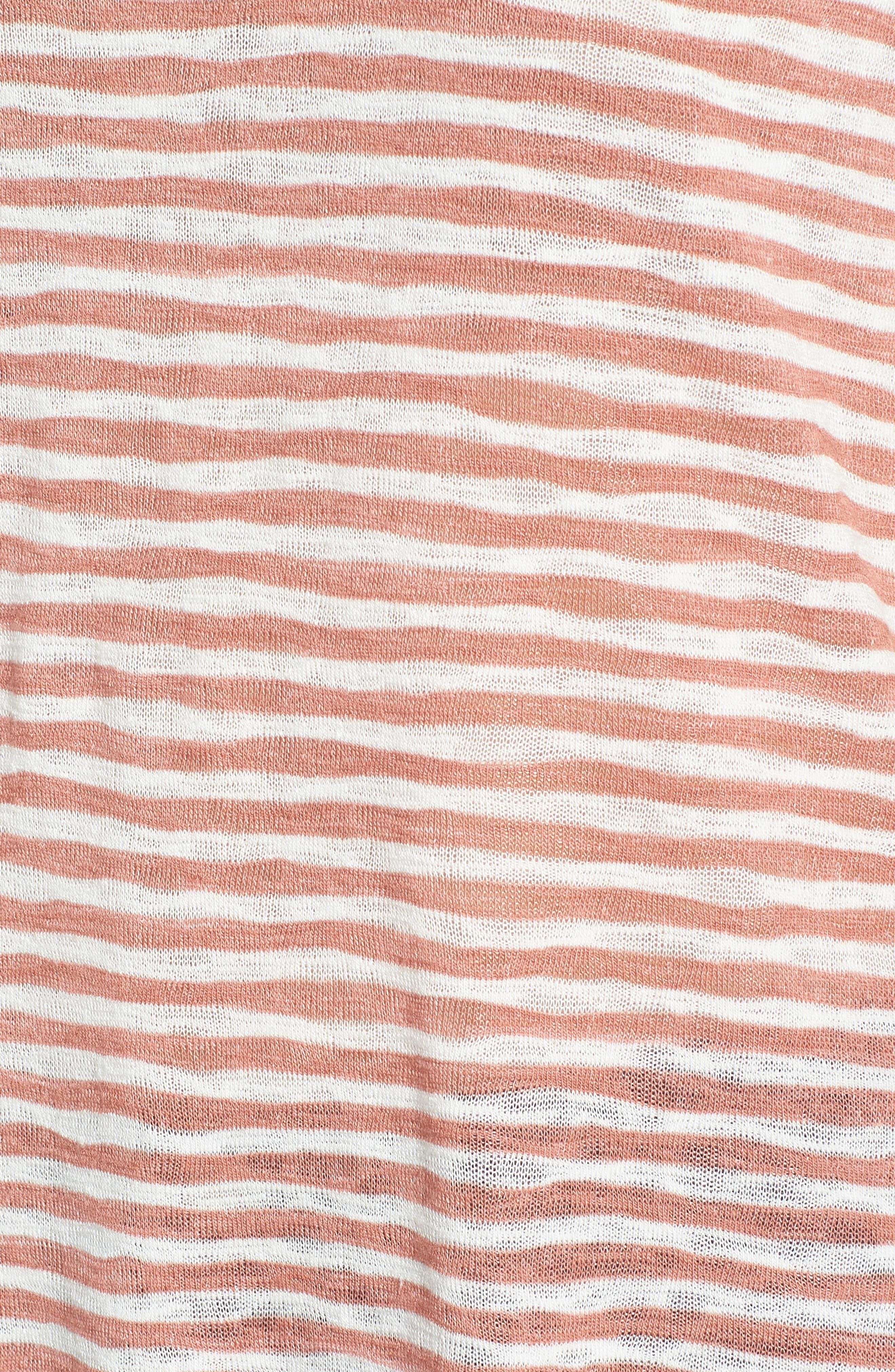 Suzie Stripe Tee,                             Alternate thumbnail 6, color,                             Blush/ Ivory