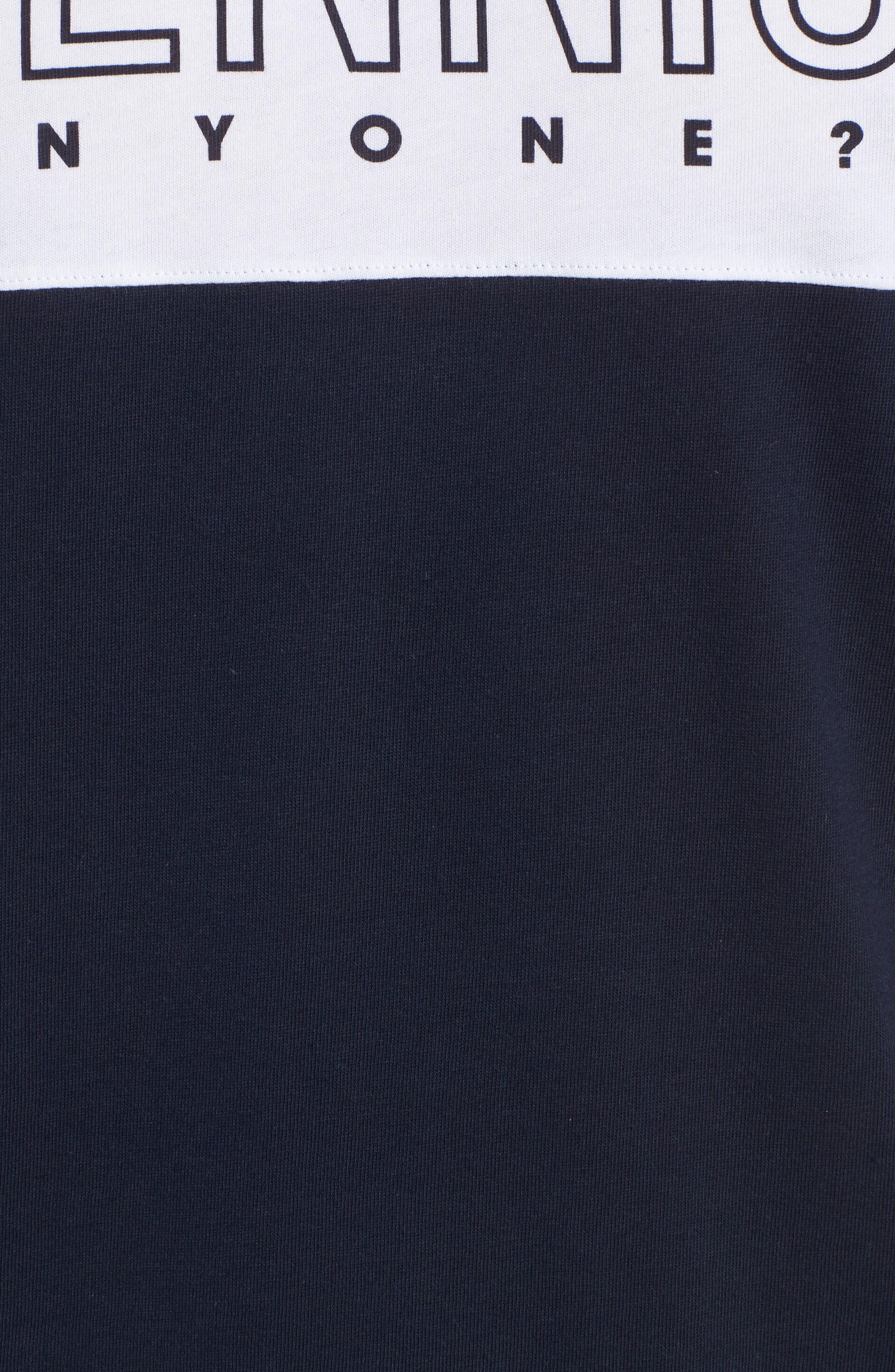 Tennis Anyone Tech Jersey T-Shirt,                             Alternate thumbnail 5, color,                             Navy Blue/ White