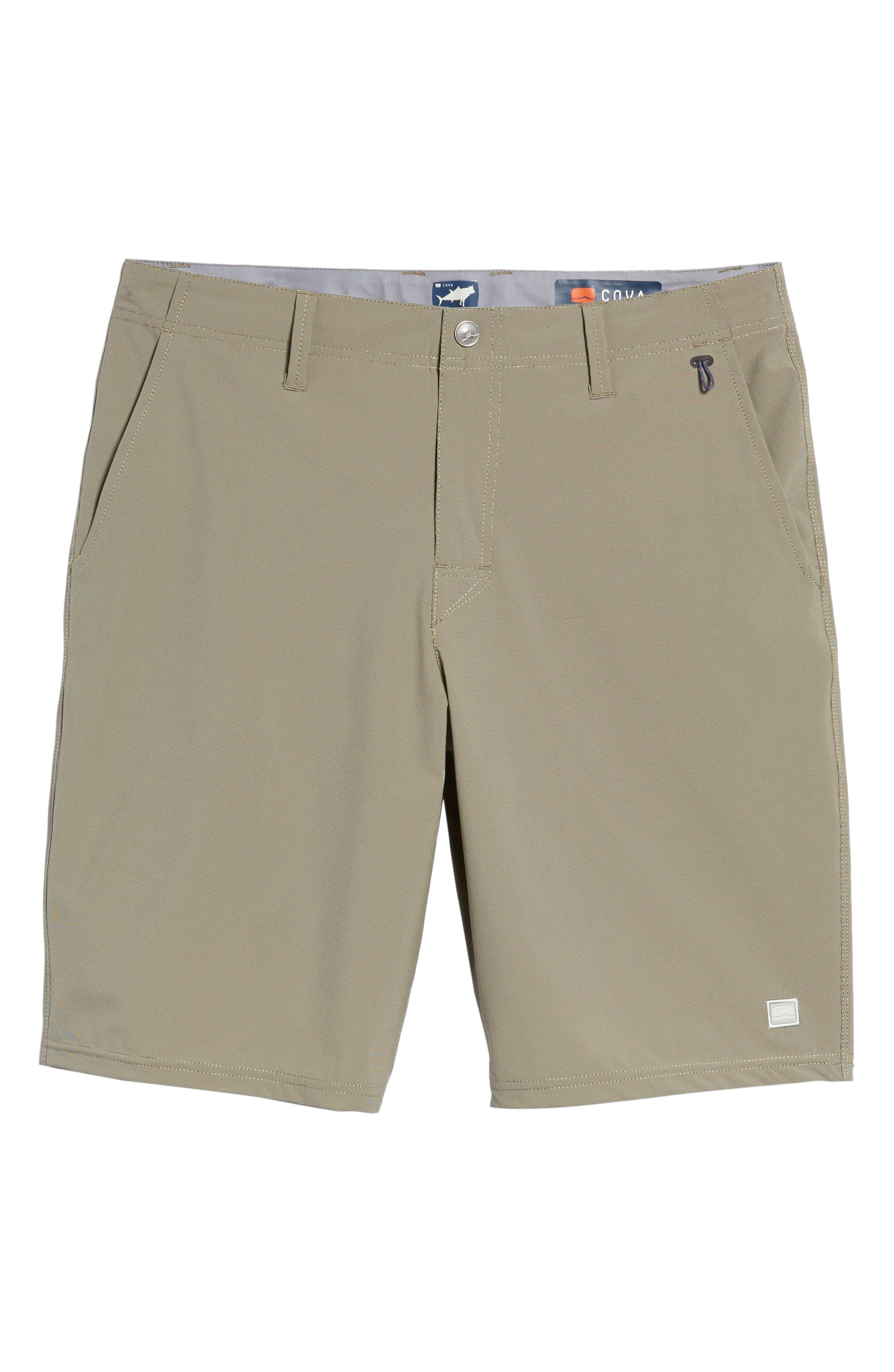 Seaside Hybrid Shorts,                             Alternate thumbnail 6, color,                             Espresso