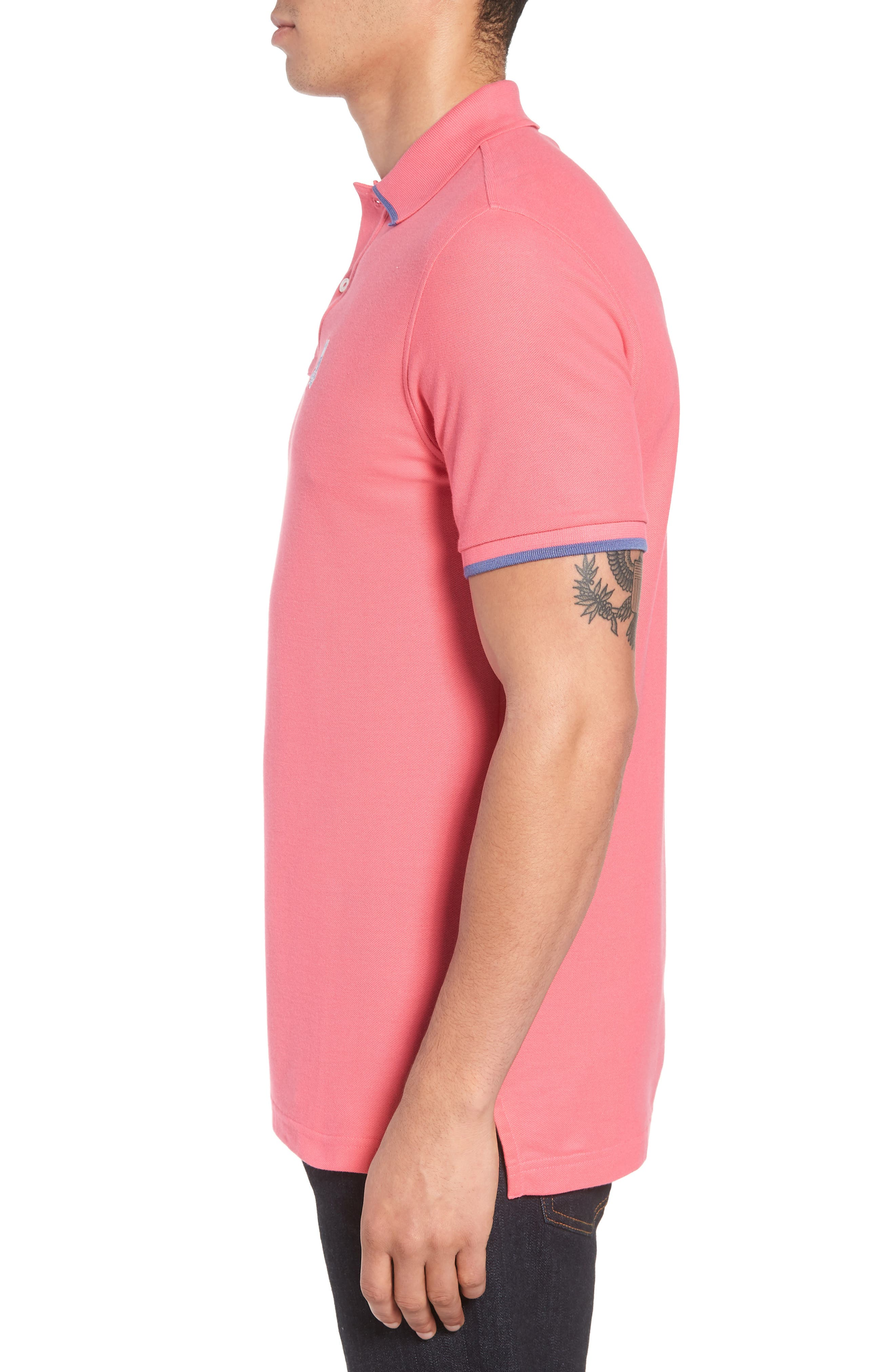 Sandford Polo,                             Alternate thumbnail 3, color,                             Hot Pink