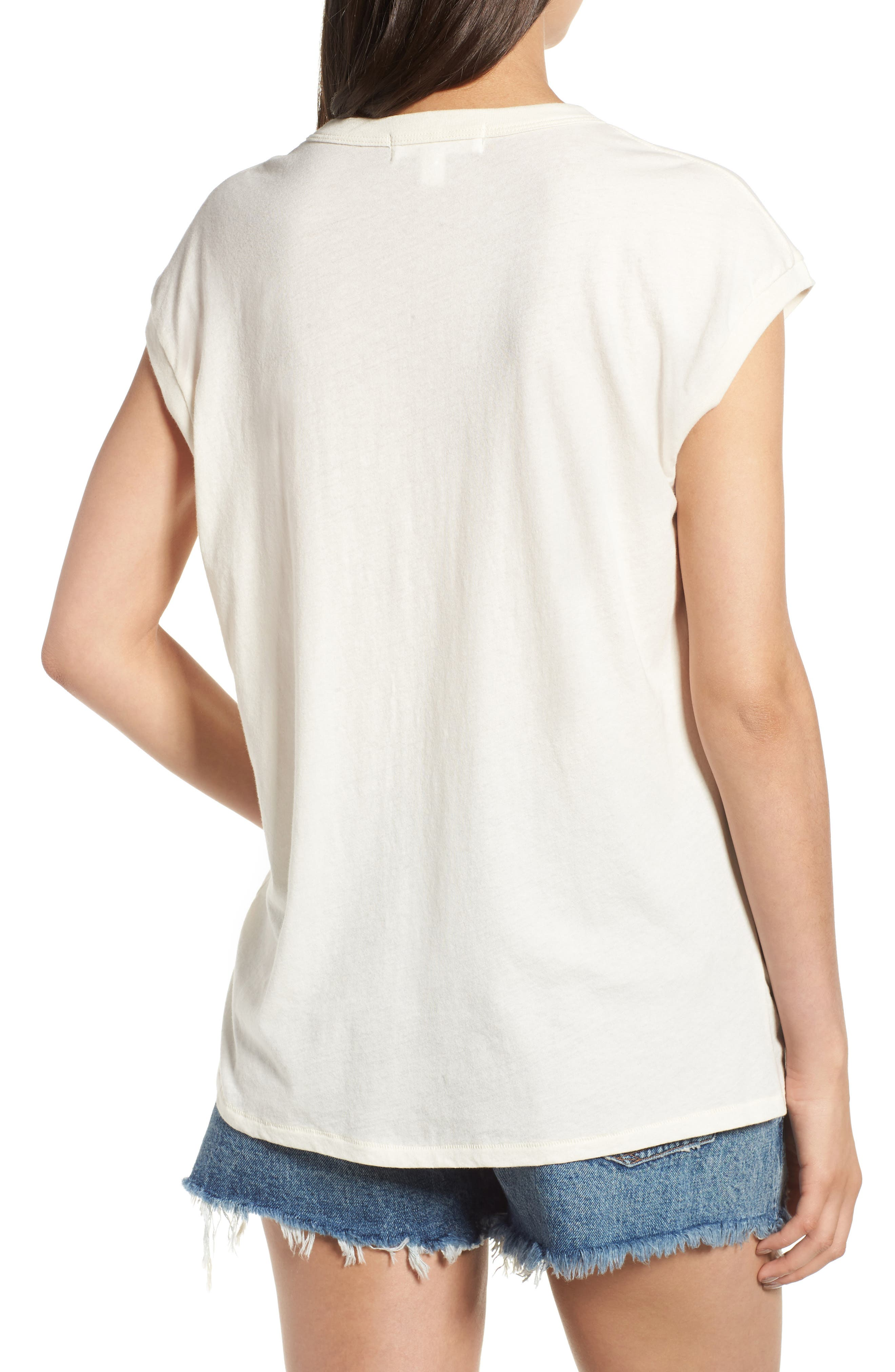 Vintage Muscle Tee,                             Alternate thumbnail 2, color,                             Cream