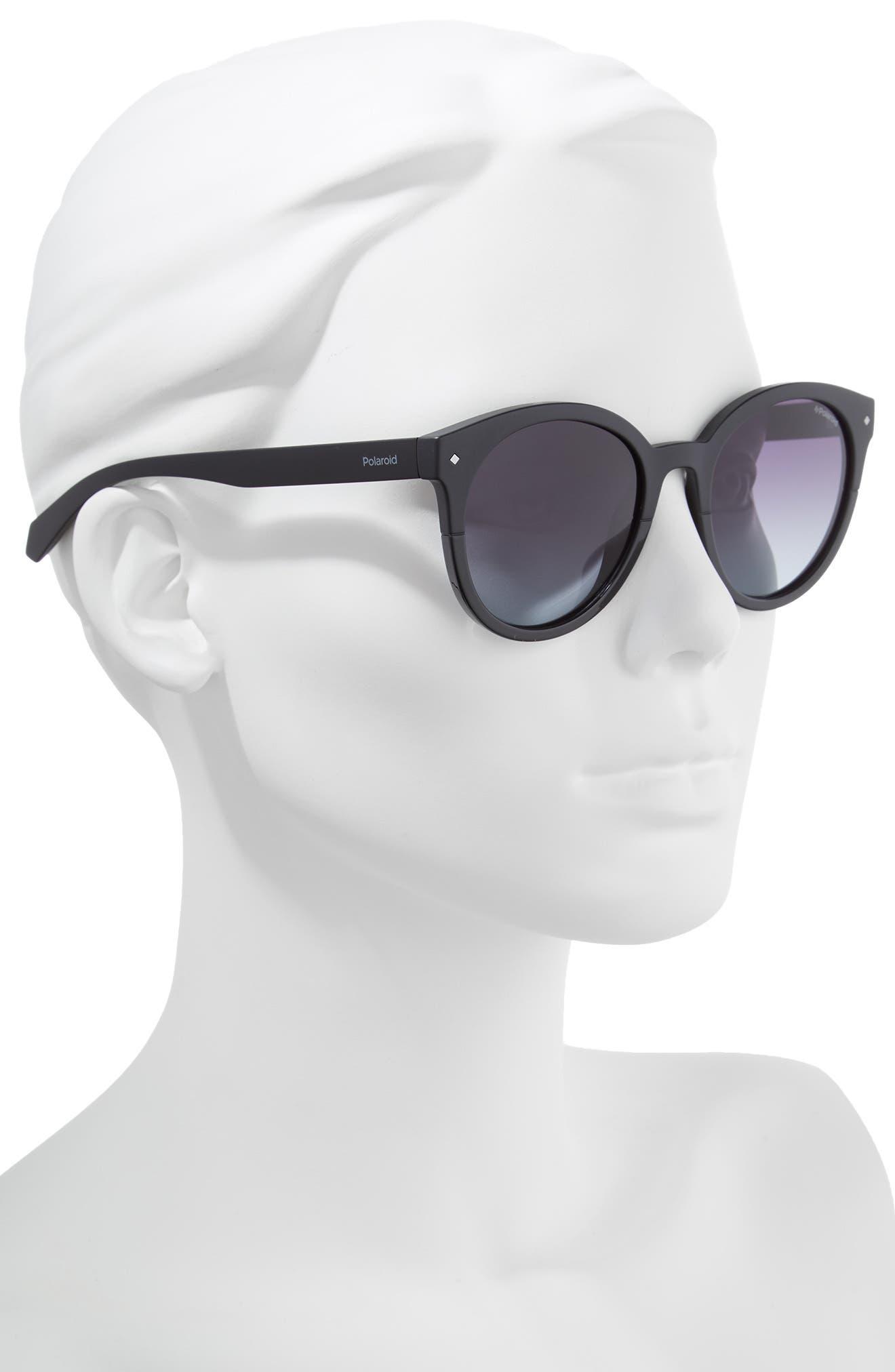 Basic 51mm Polarized Sunglasses,                             Alternate thumbnail 2, color,                             Black