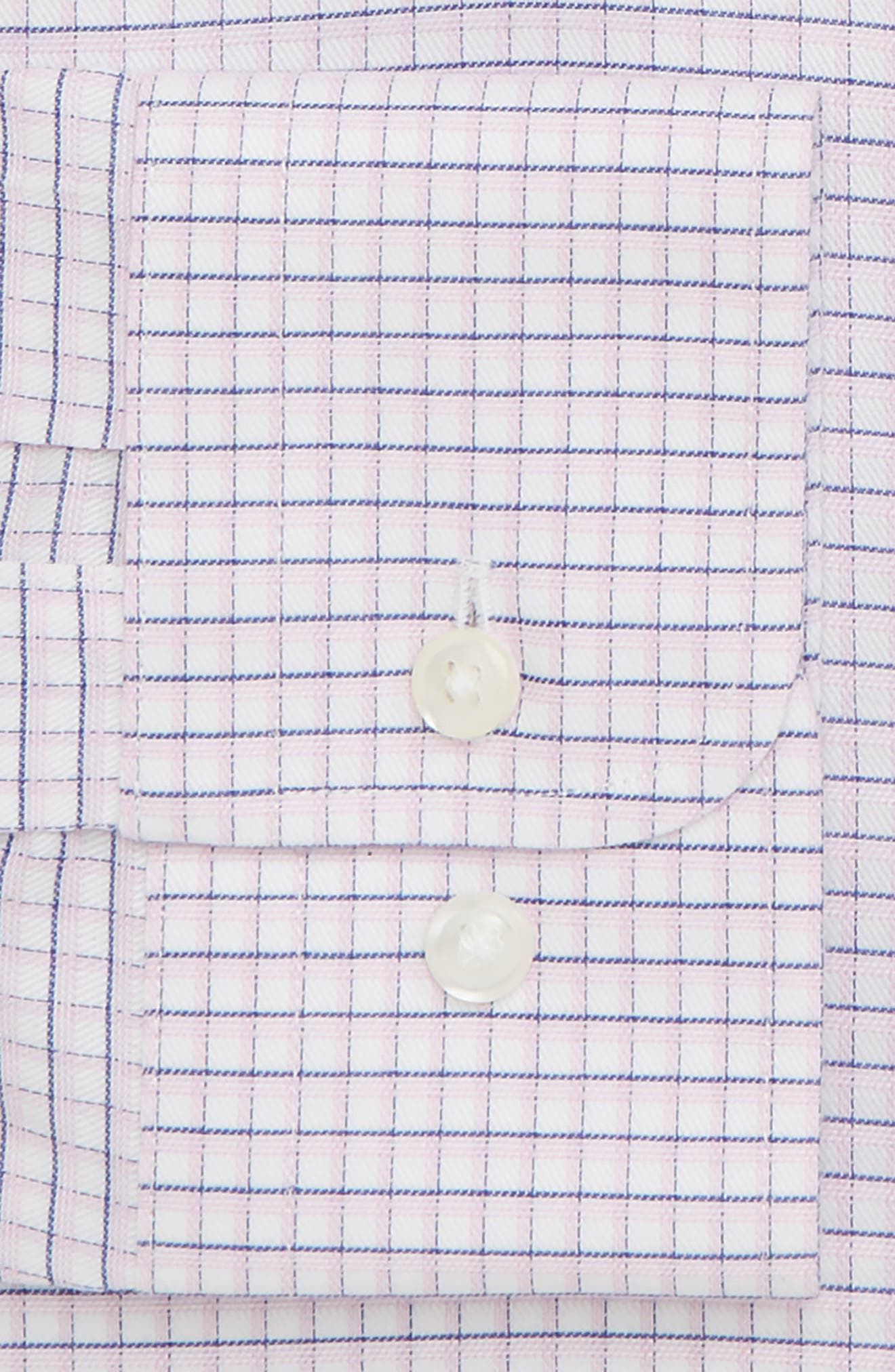 Smartcare<sup>™</sup> Trim Fit Check Sport Shirt,                             Alternate thumbnail 5, color,                             Pink Sweet