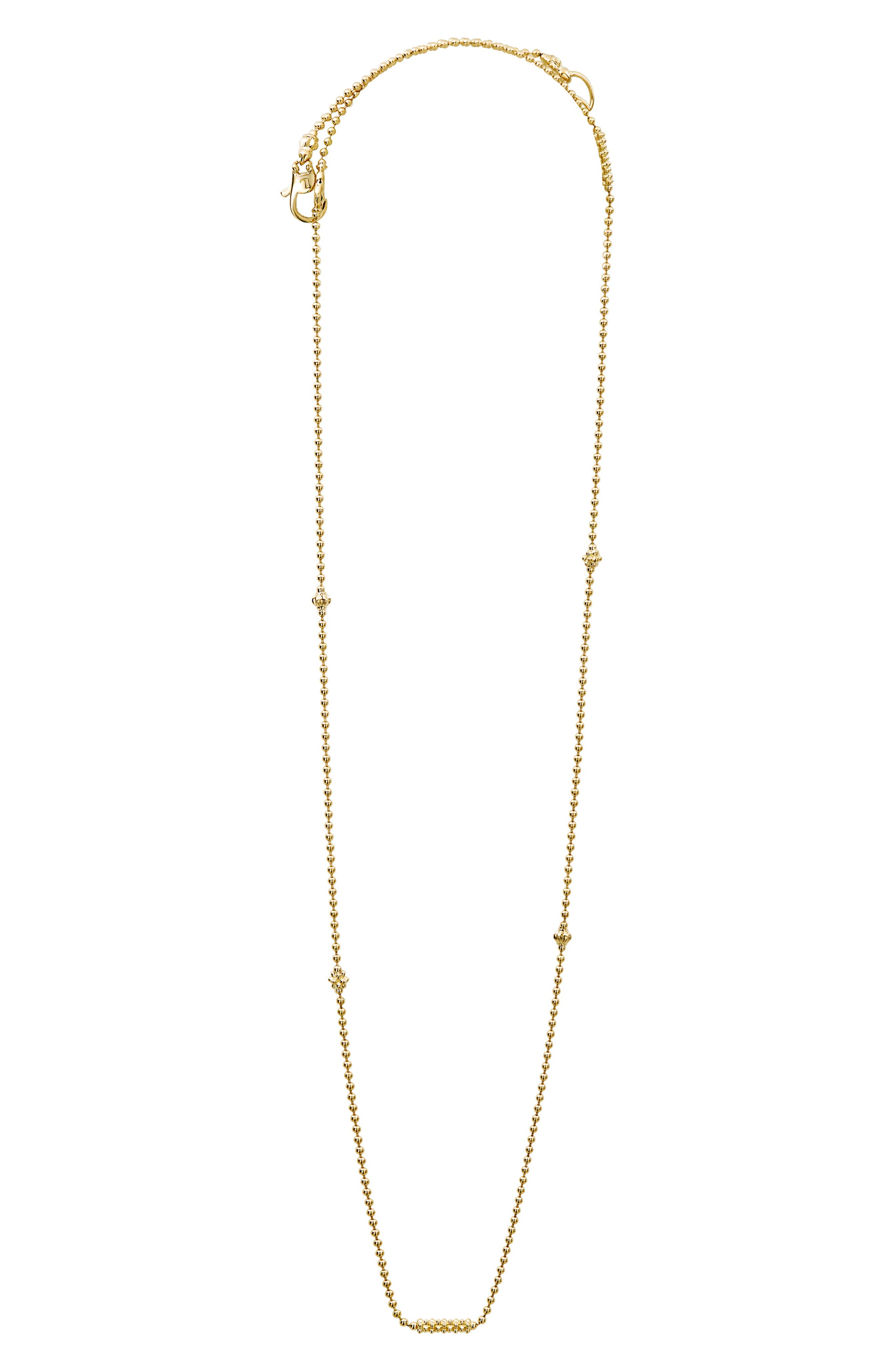Caviar Bars & Cages Chain Necklace,                             Main thumbnail 1, color,                             Gold