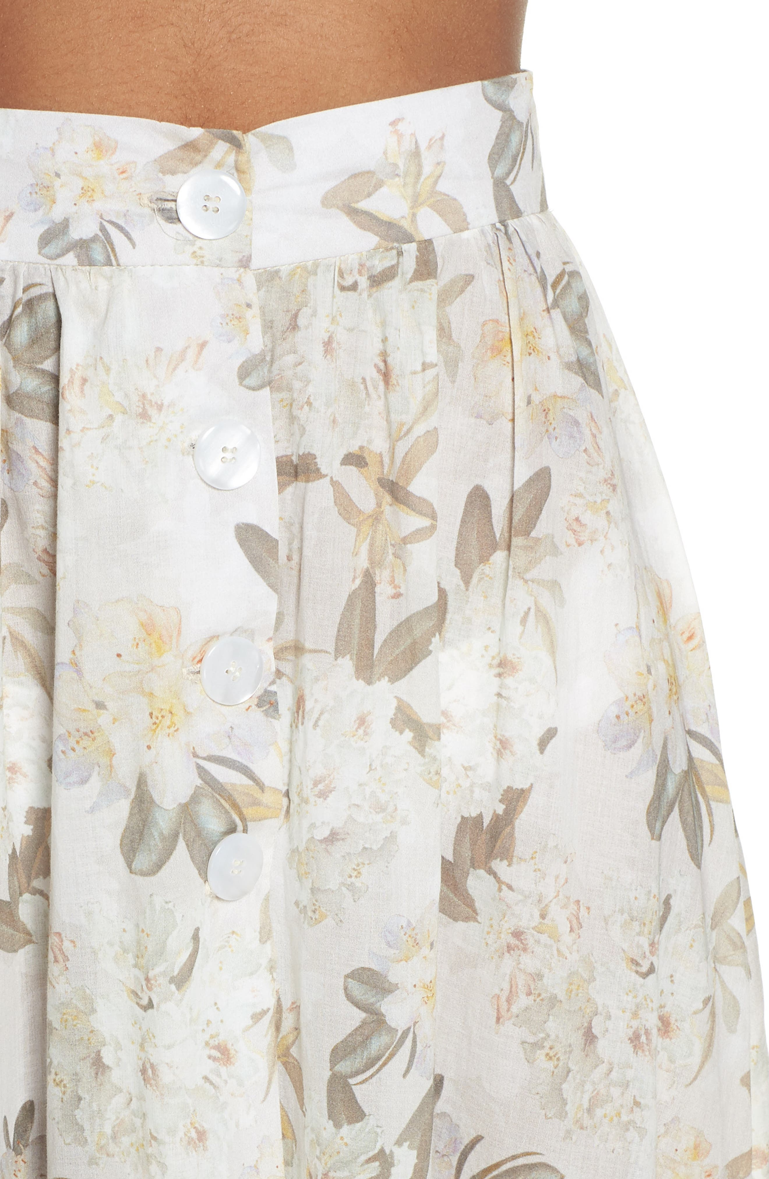 Edith Cover-Up Maxi Skirt,                             Alternate thumbnail 4, color,                             Ete Floral White