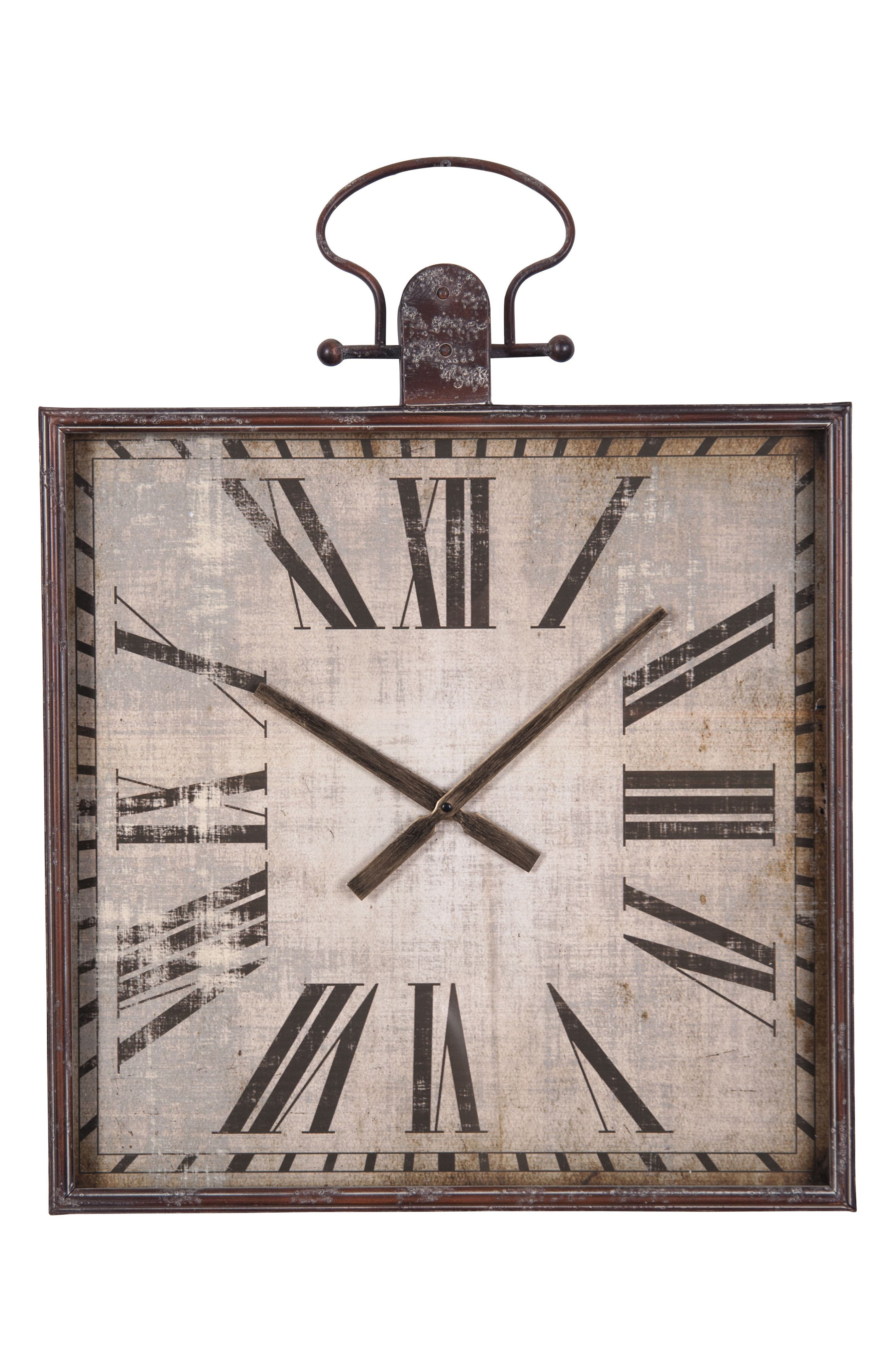 Mountain Time Wall Clock,                         Main,                         color, Metal/ Glass/ Wood