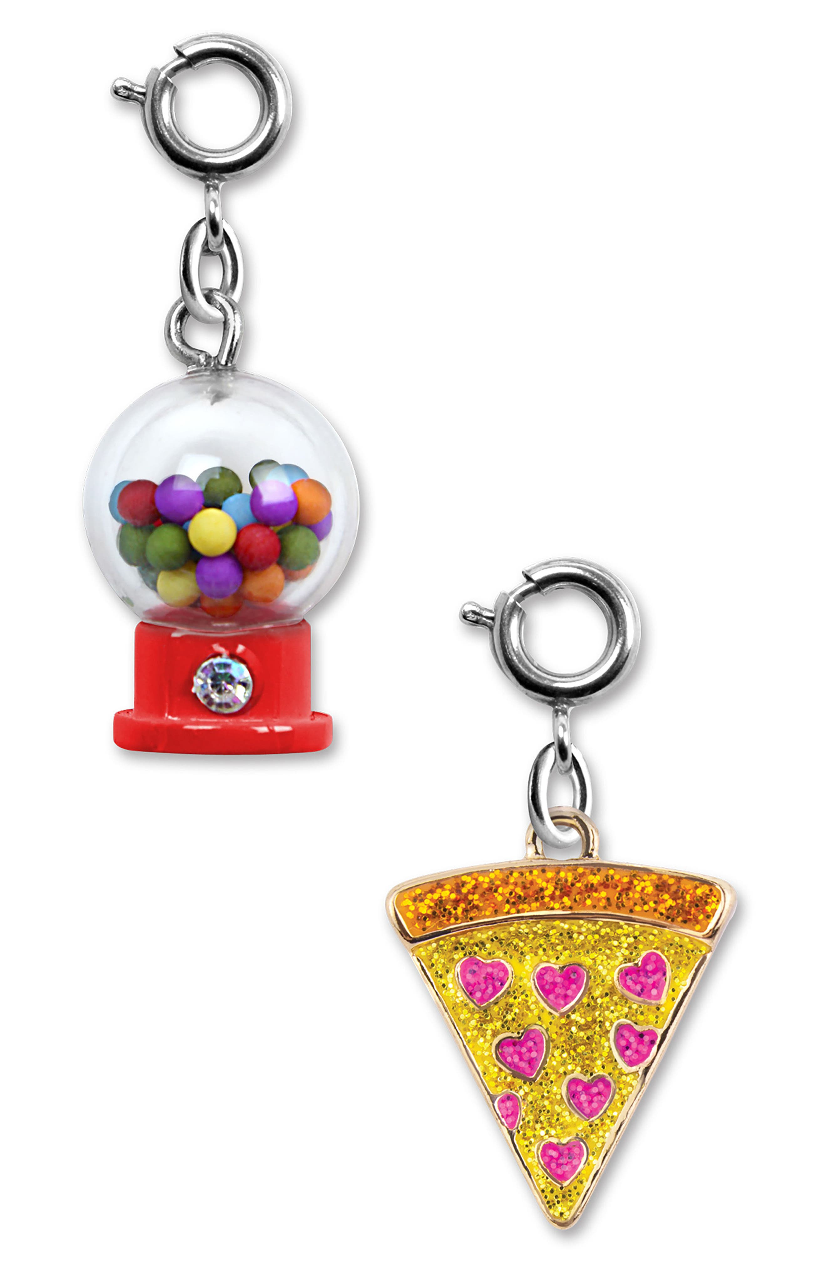 CHARM IT!<sup>®</sup> 2-Pack Gumball & Glitter Pizza Charms,                             Main thumbnail 1, color,                             Multi