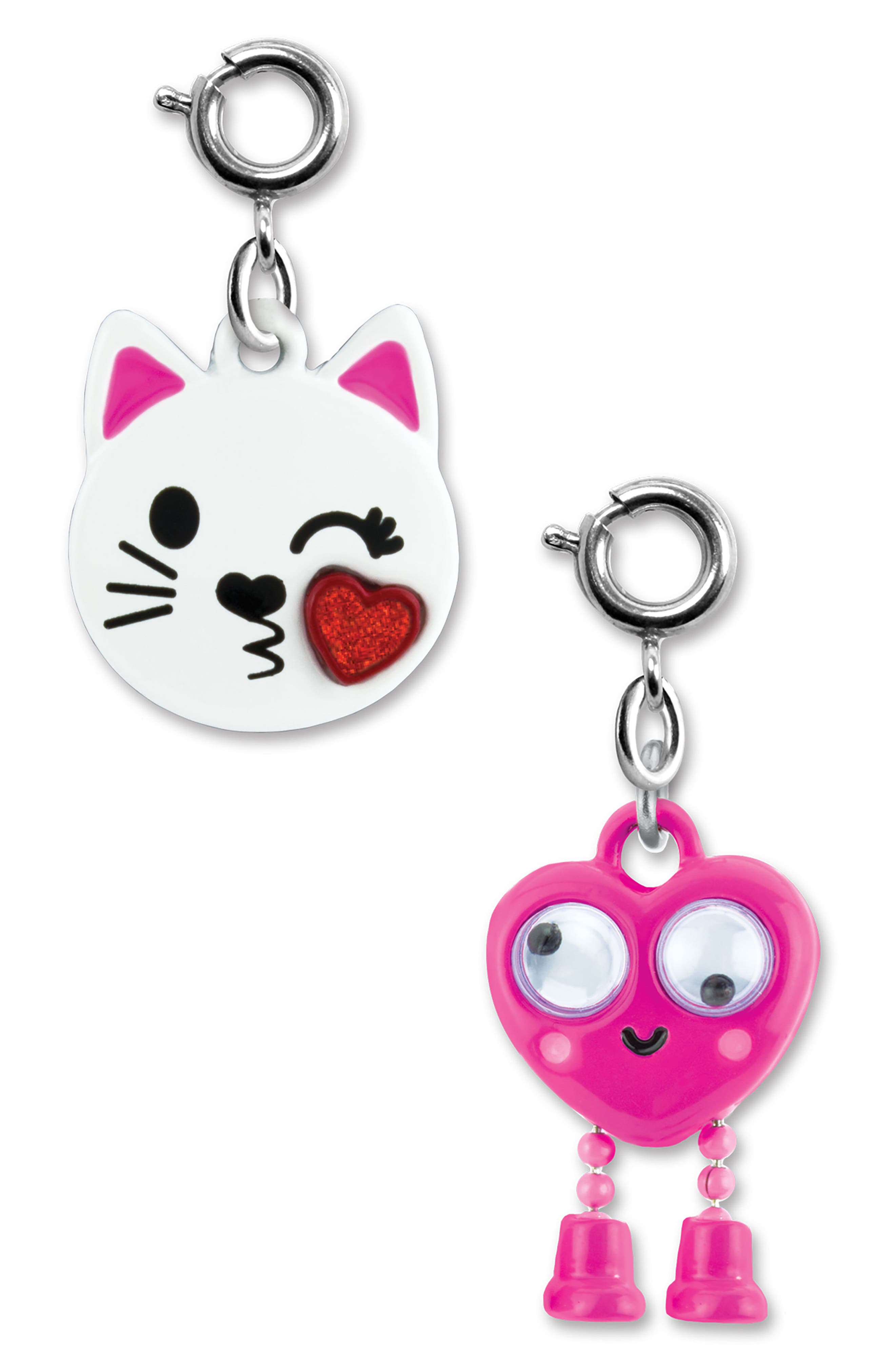 CHARM IT!<sup>®</sup> 2-Pack Kitty & Emoji Charms,                             Alternate thumbnail 2, color,                             Multi