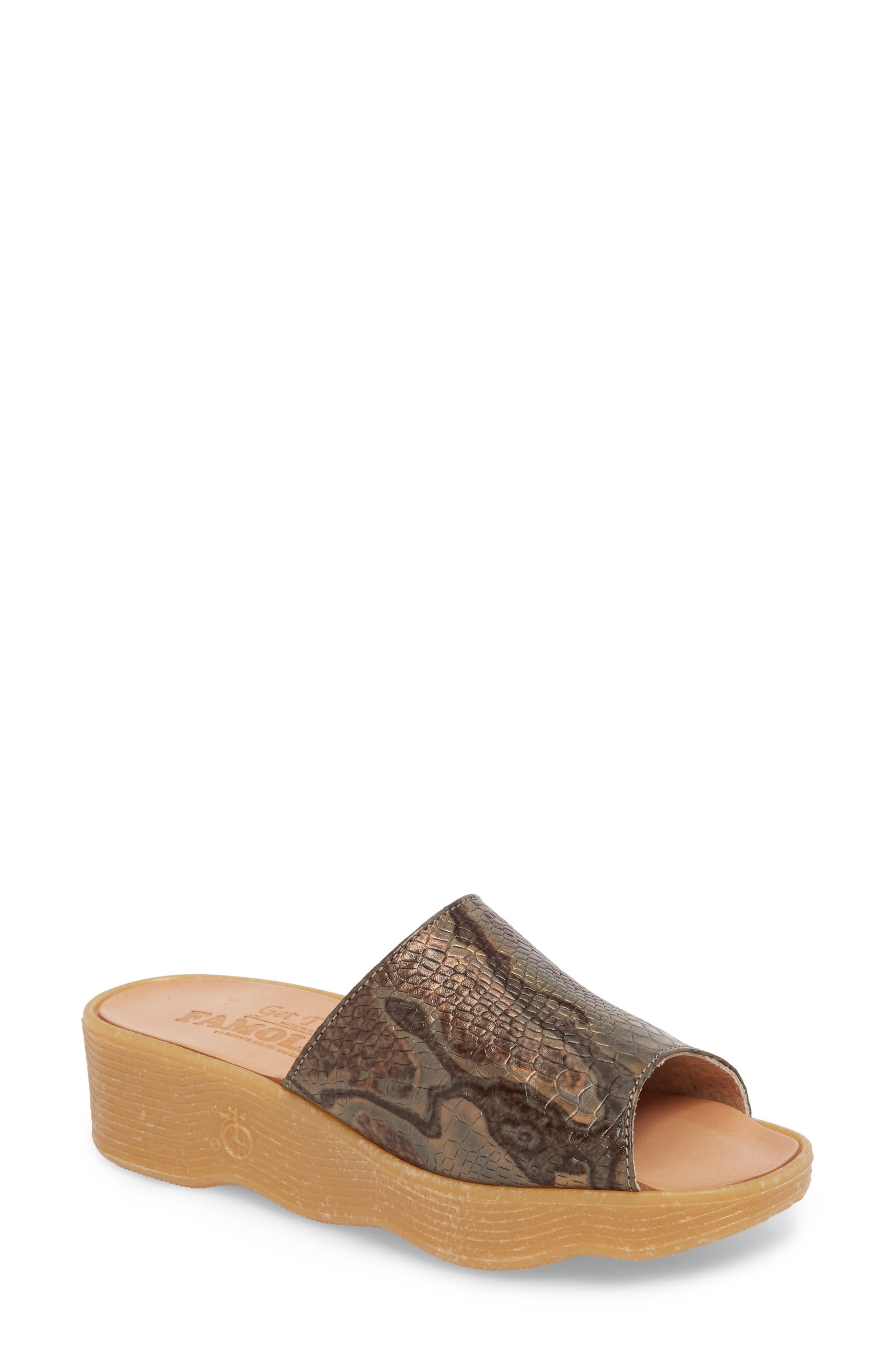 Slide N Sleek Wedge Slide Sandal,                         Main,                         color, Snake Leather