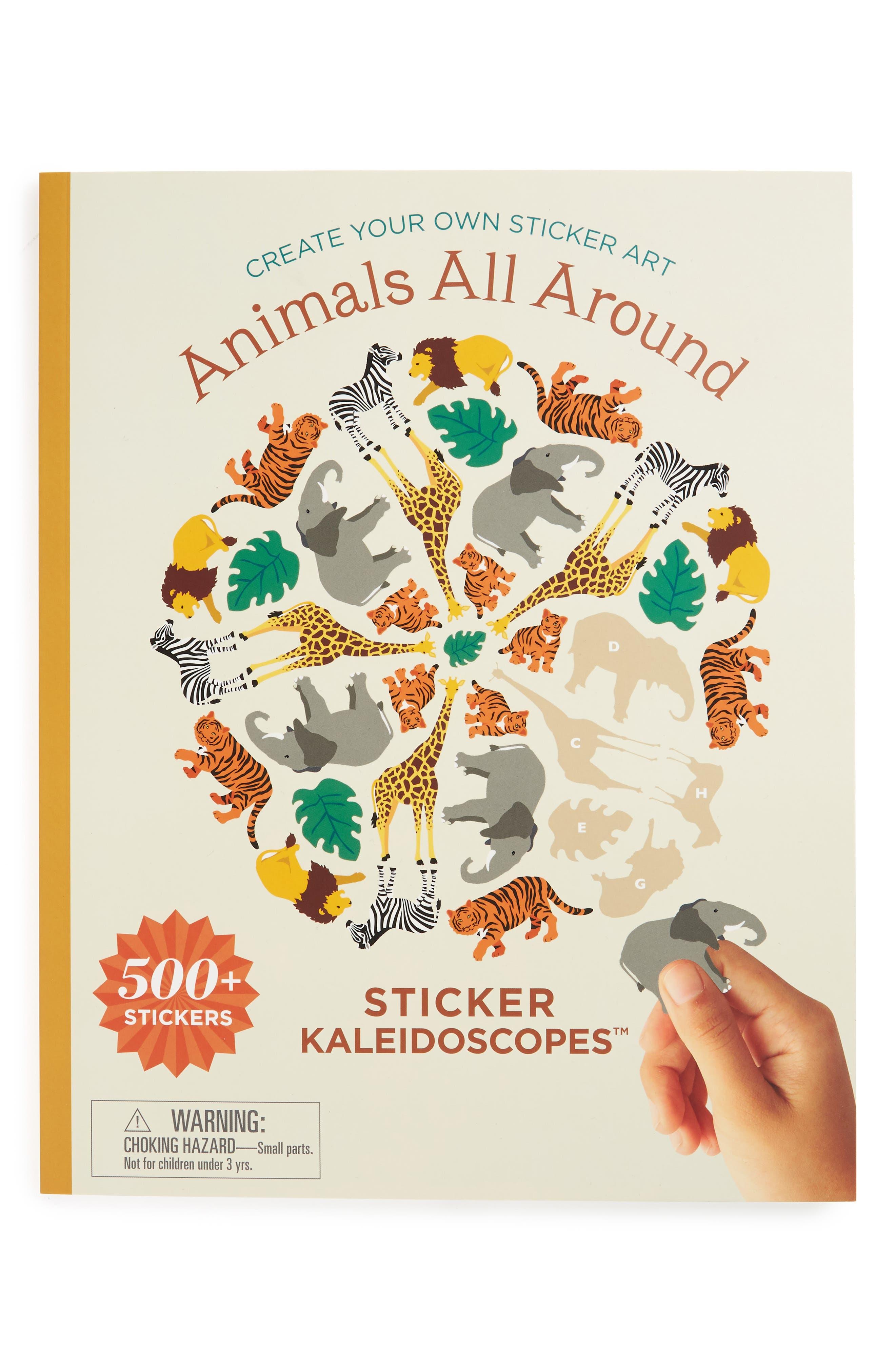 Mrs. Grossman's Animals All Around Kaleidoscopes Sticker Book,                             Main thumbnail 1, color,                             Yellow