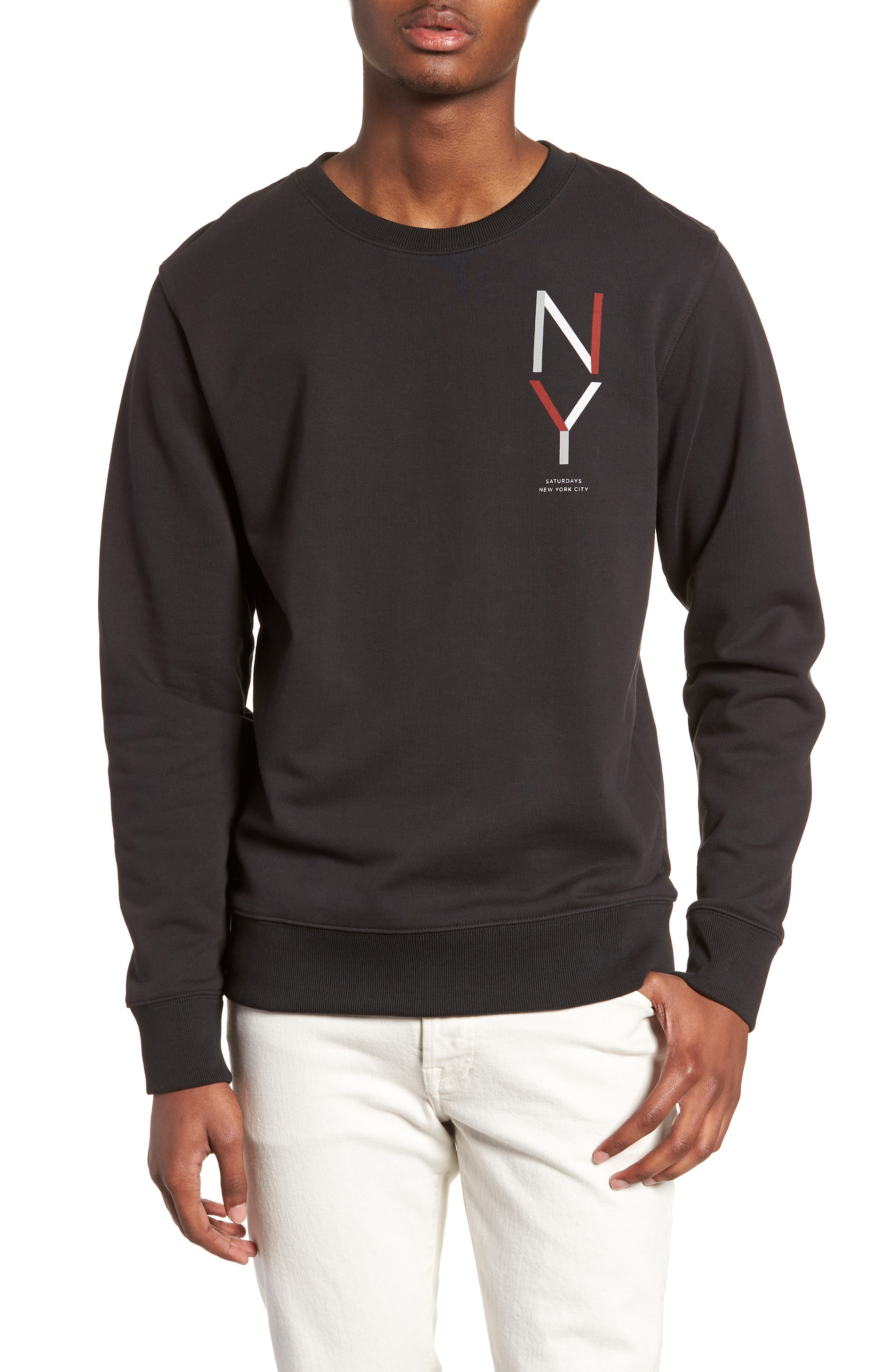 Bowery NY Sweatshirt,                             Main thumbnail 1, color,                             Black