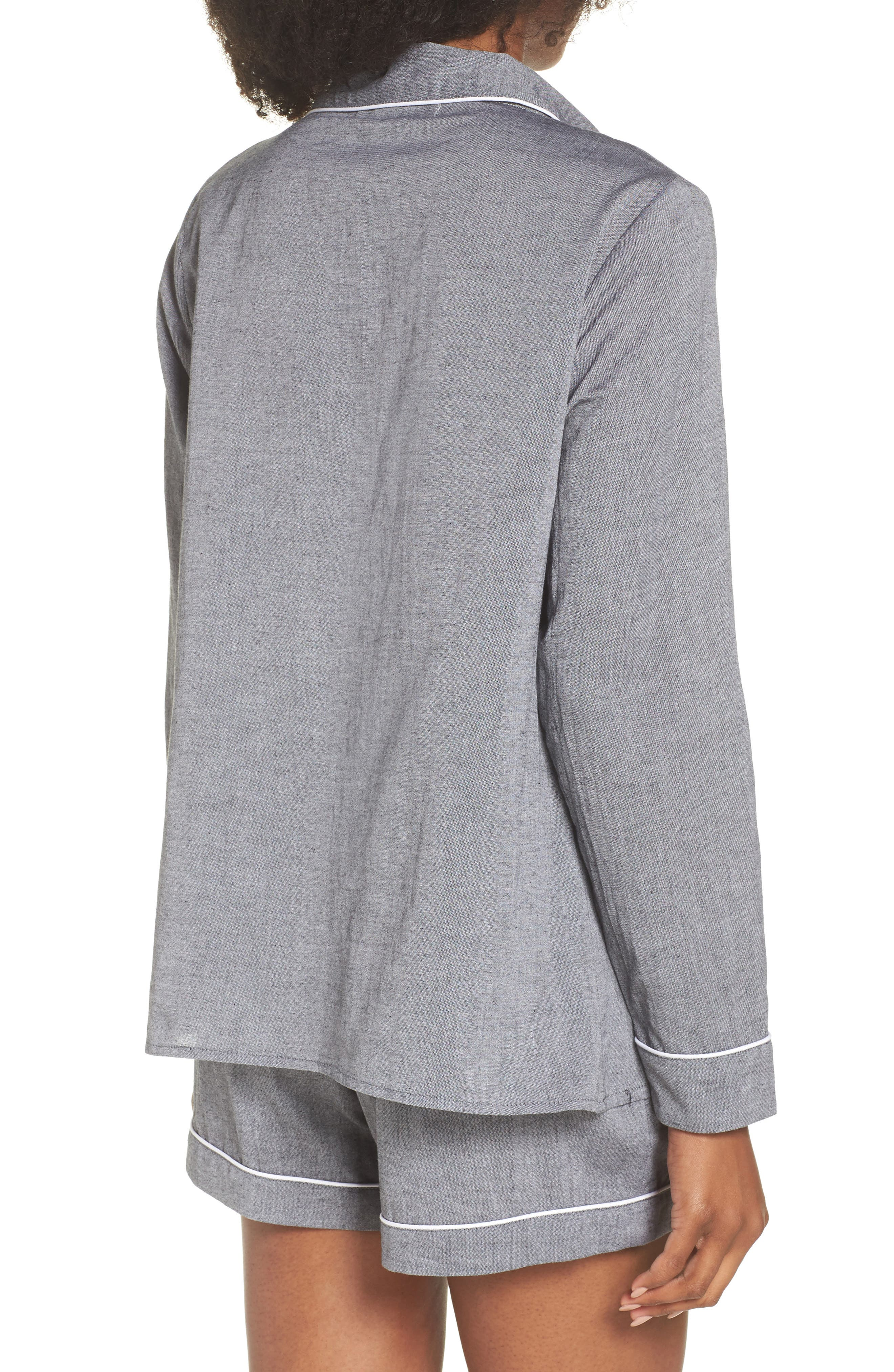 Short Pajamas,                             Alternate thumbnail 2, color,                             Charcoal