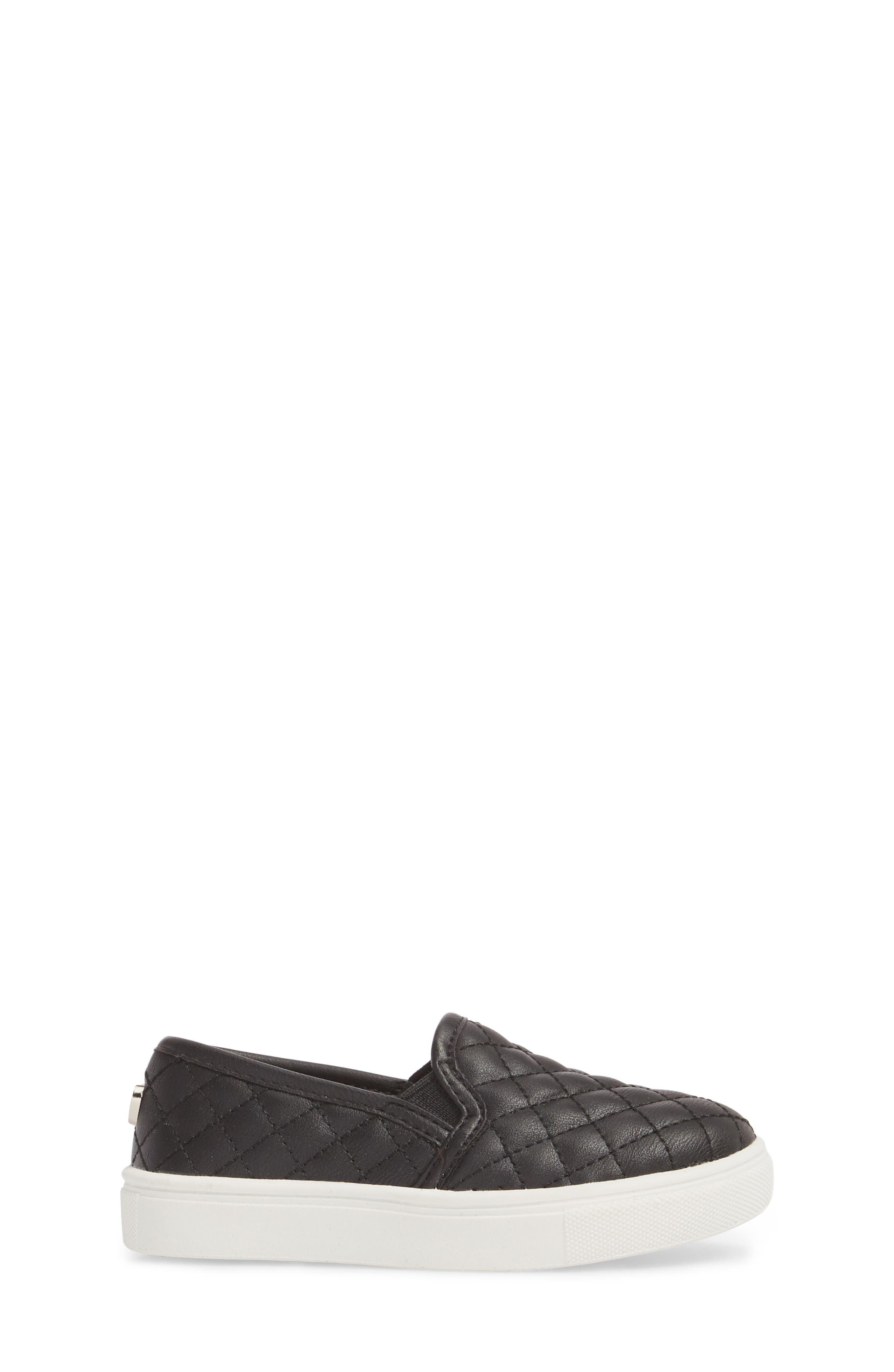 Tecntrc Quilted Slip-On Sneaker,                             Alternate thumbnail 3, color,                             Black