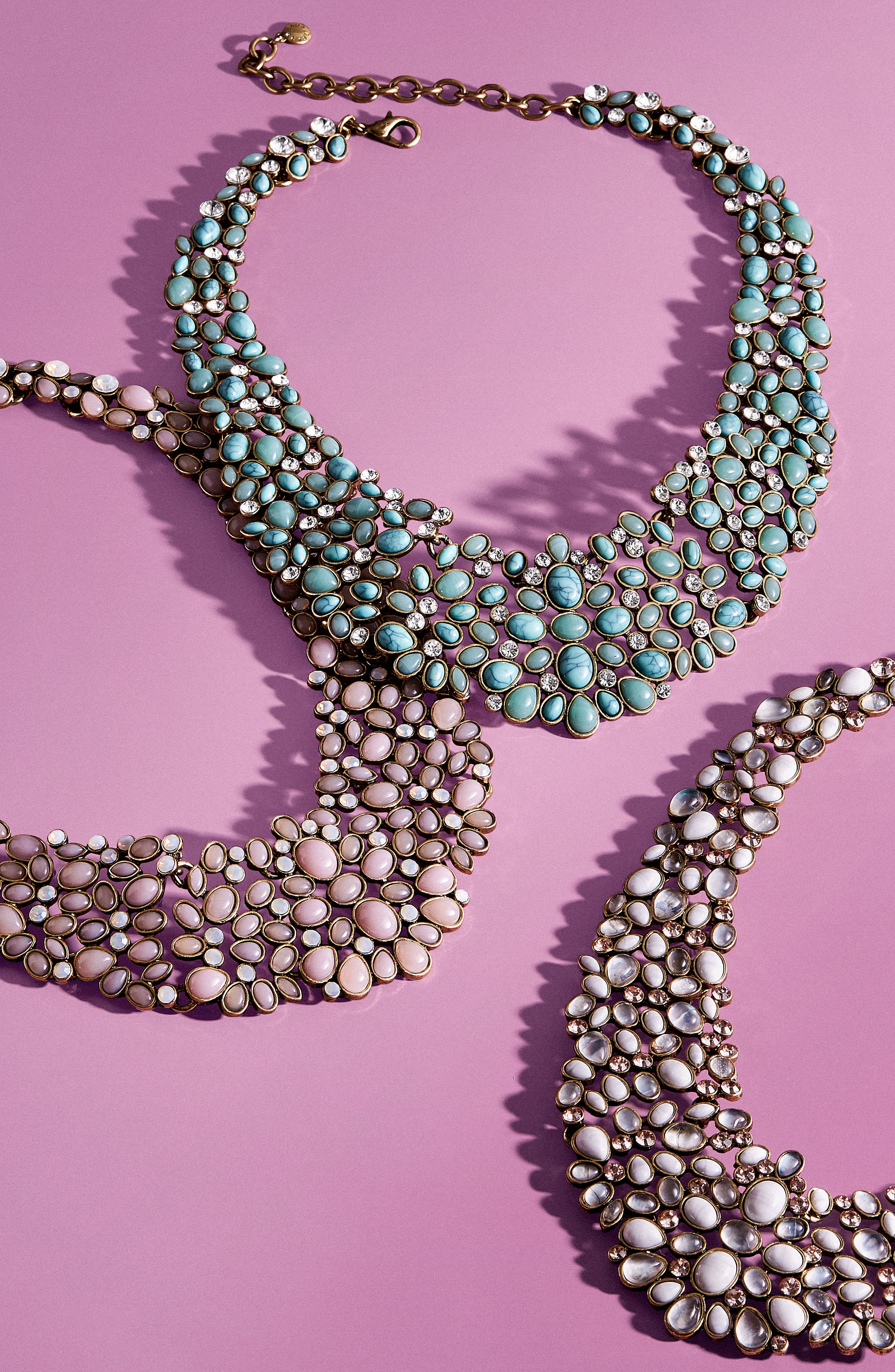 'Kew' Crystal Collar Necklace,                             Alternate thumbnail 2, color,