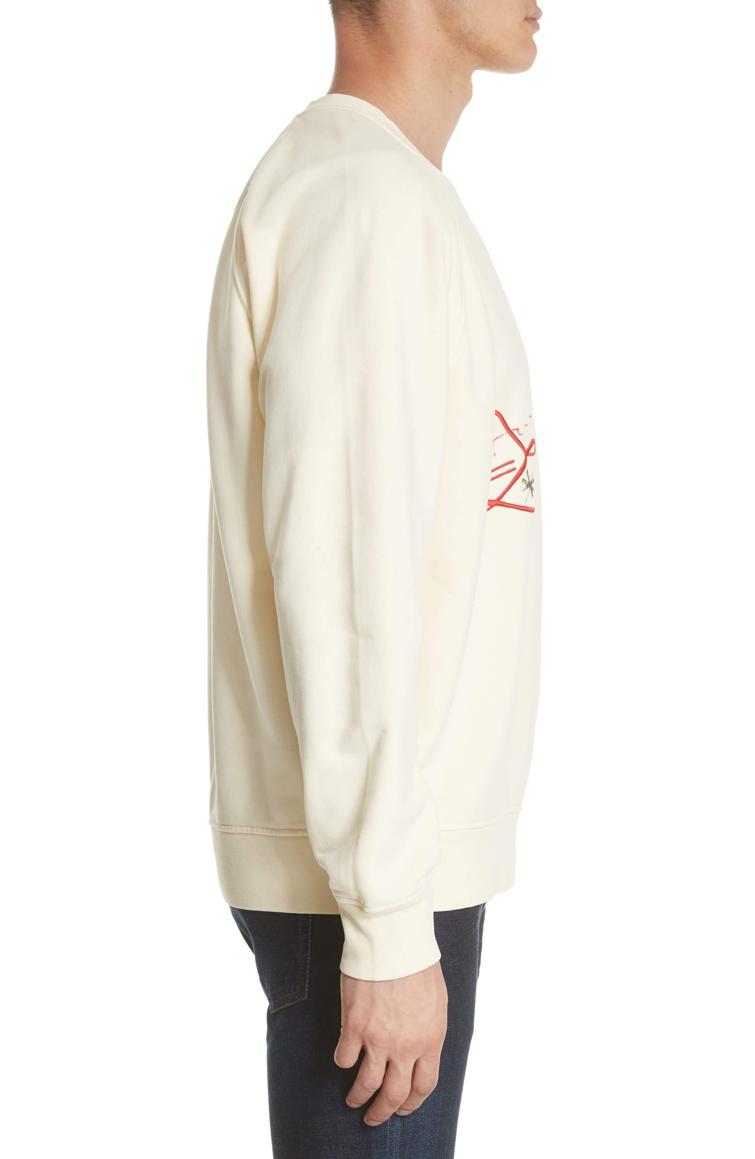 Earlford Graphic Sweatshirt,                             Alternate thumbnail 3, color,                             Pale Yellow