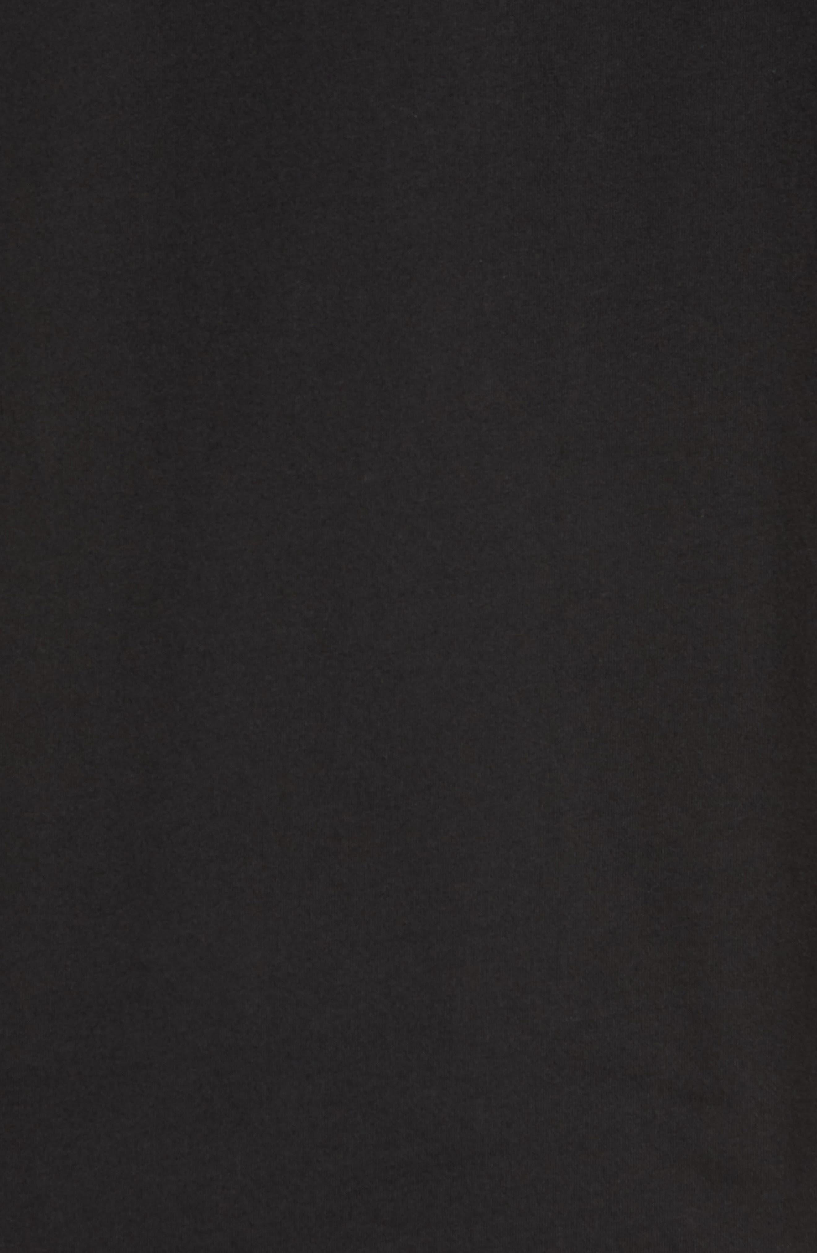 Stencil Grid T-Shirt,                             Alternate thumbnail 5, color,                             Black